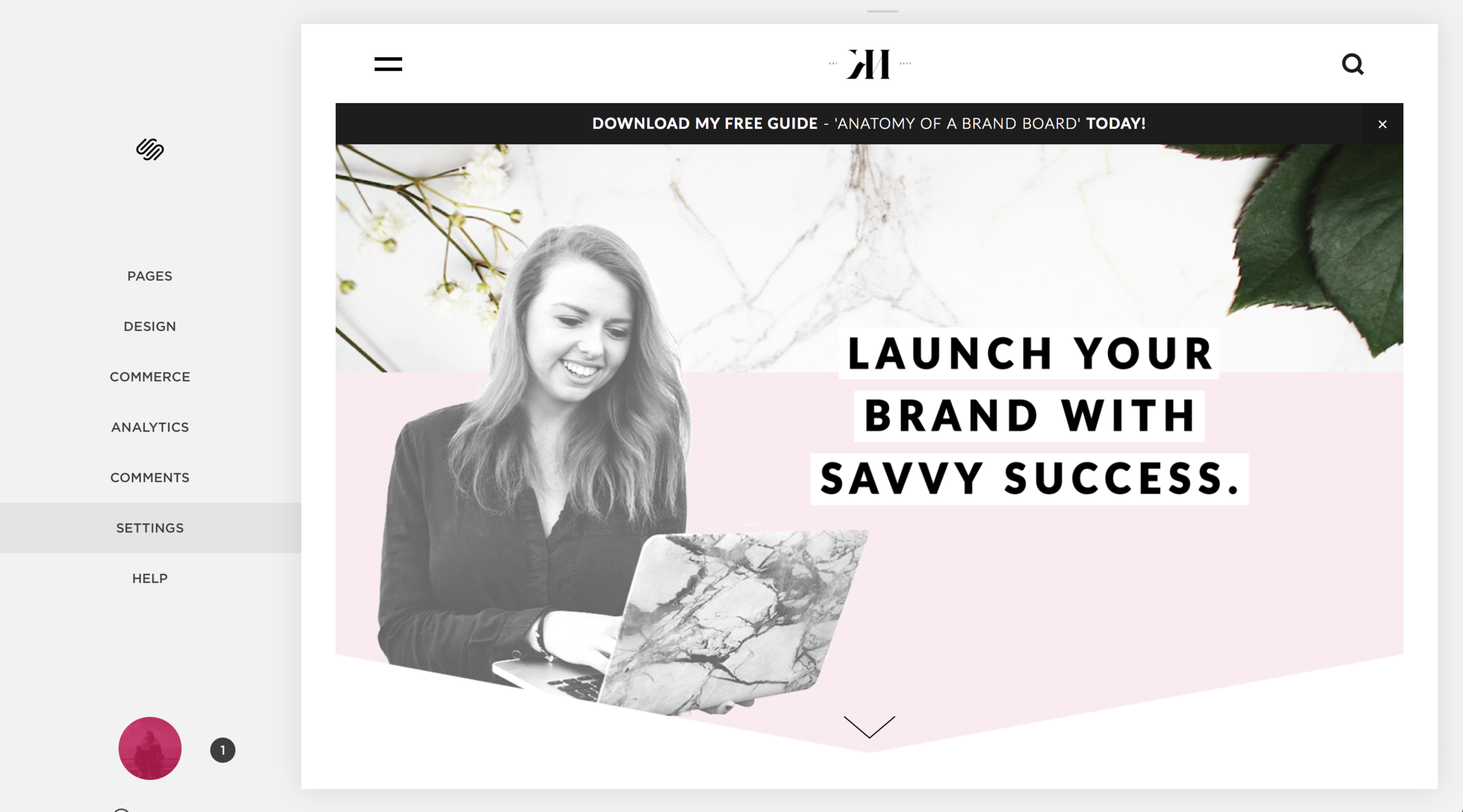 How to invite a site contributor to Squarespace