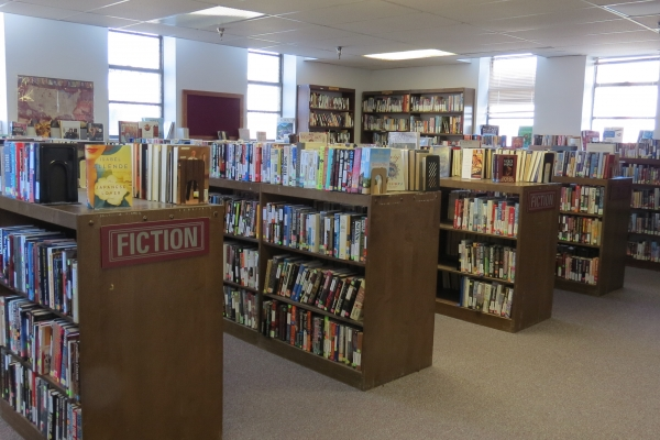 The library at Fort Lyon. (Credit: Colorado Coalition for the Homeless)