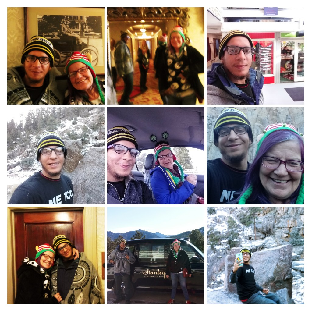 Photos from Estes Park and the Stanley Hotel, which Raelene and Jamar visited together in mid-December. (Credit: Raelene Johnson)