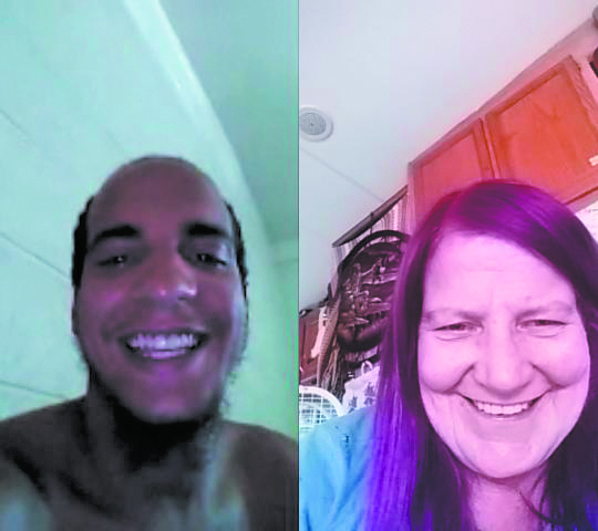 Ralene and Jamar regularly talked via Skype after being reconnected in July. (Credit: Raelene Johnson)