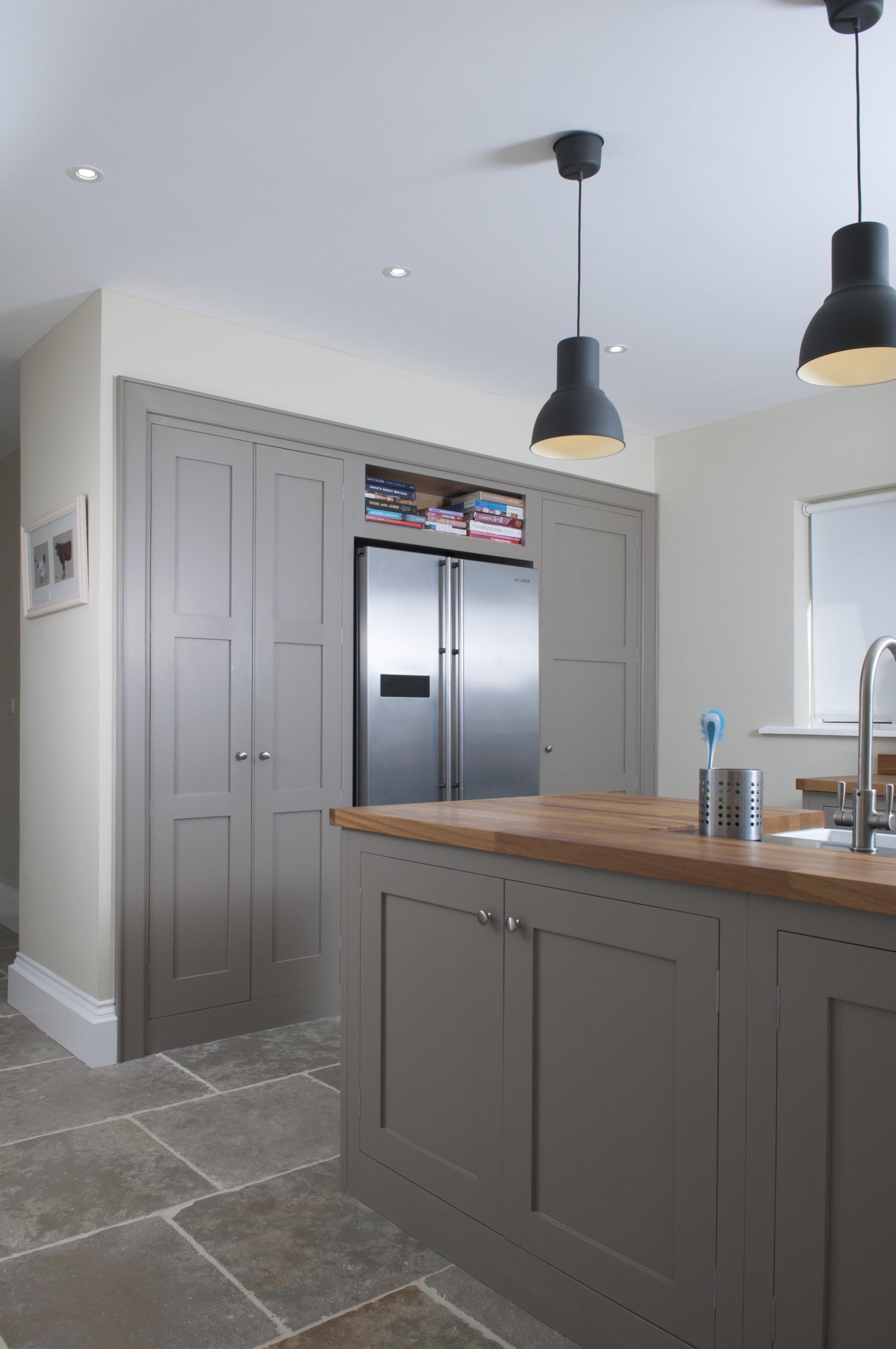 Talisman Woodworks Handcrafted Bespoke fridge unit kitchen