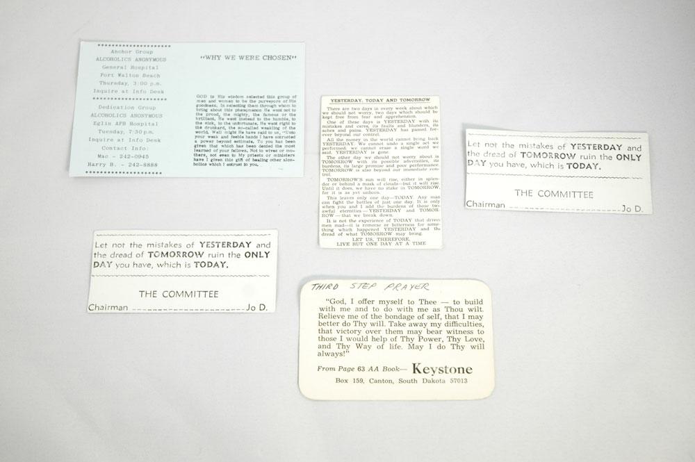 Wallet prayer cards