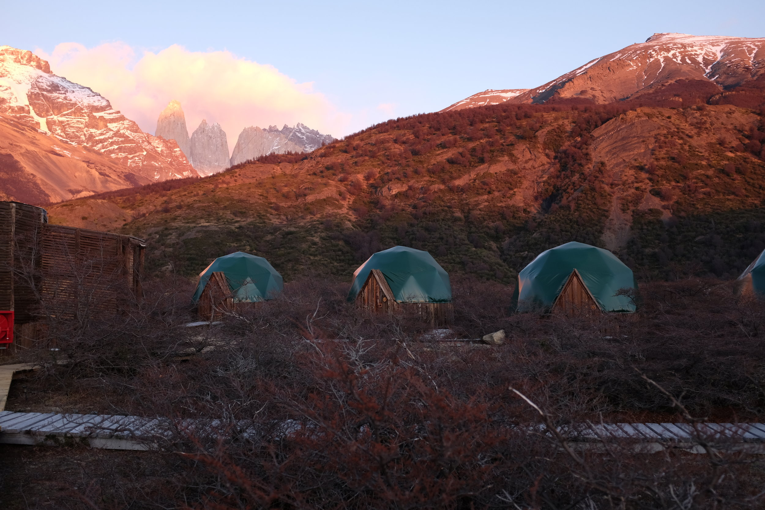 Ecocamp Patagonia exterior lodgings Eco Camp