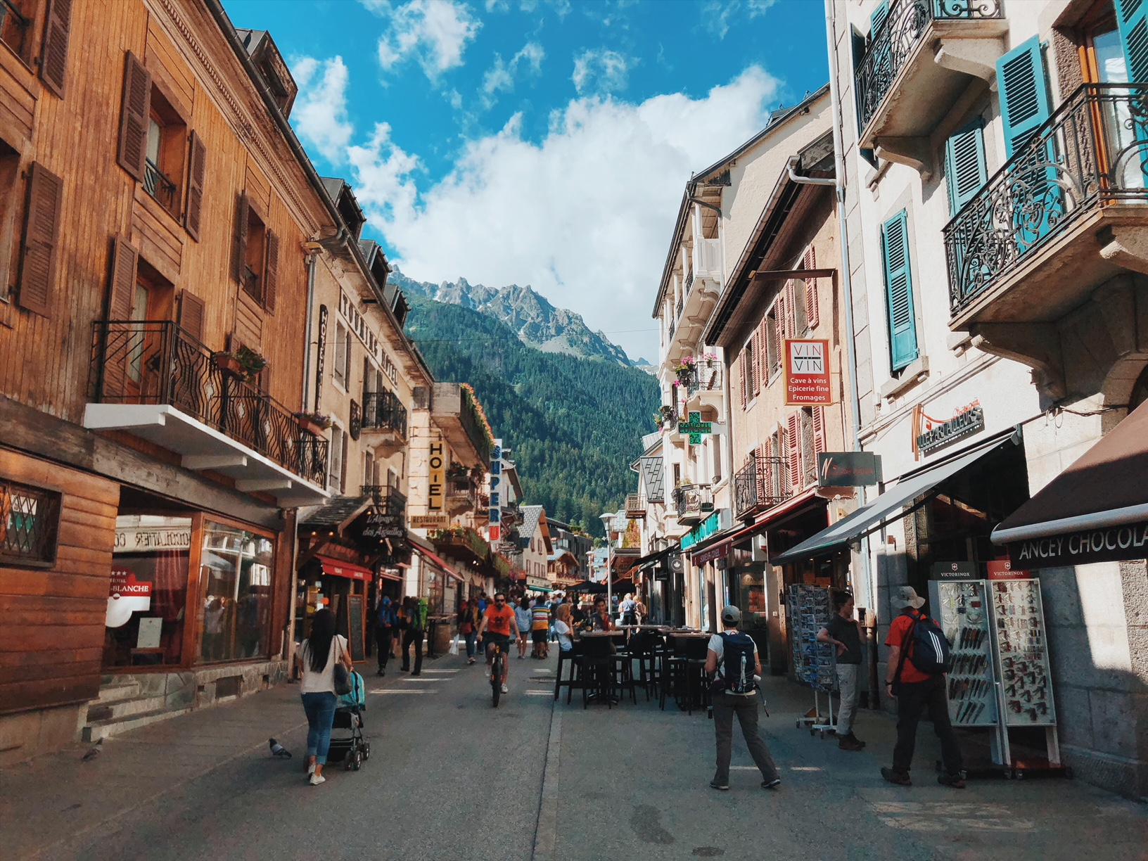 Chamonix downtown