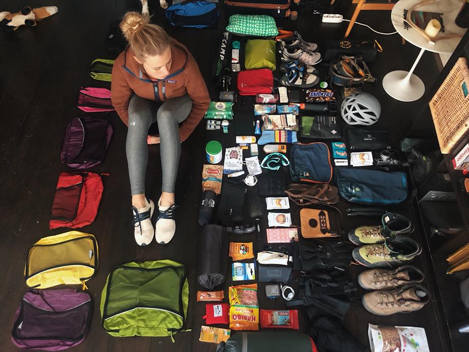 Packing at home in Amsterdam