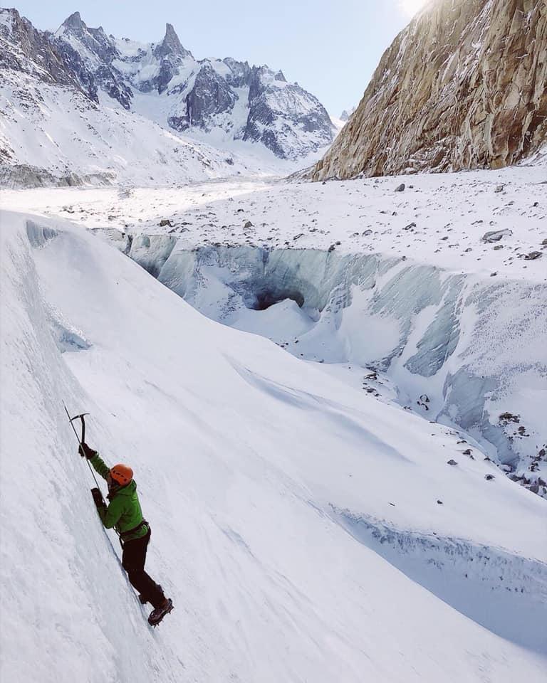 mer de glace ice climbing