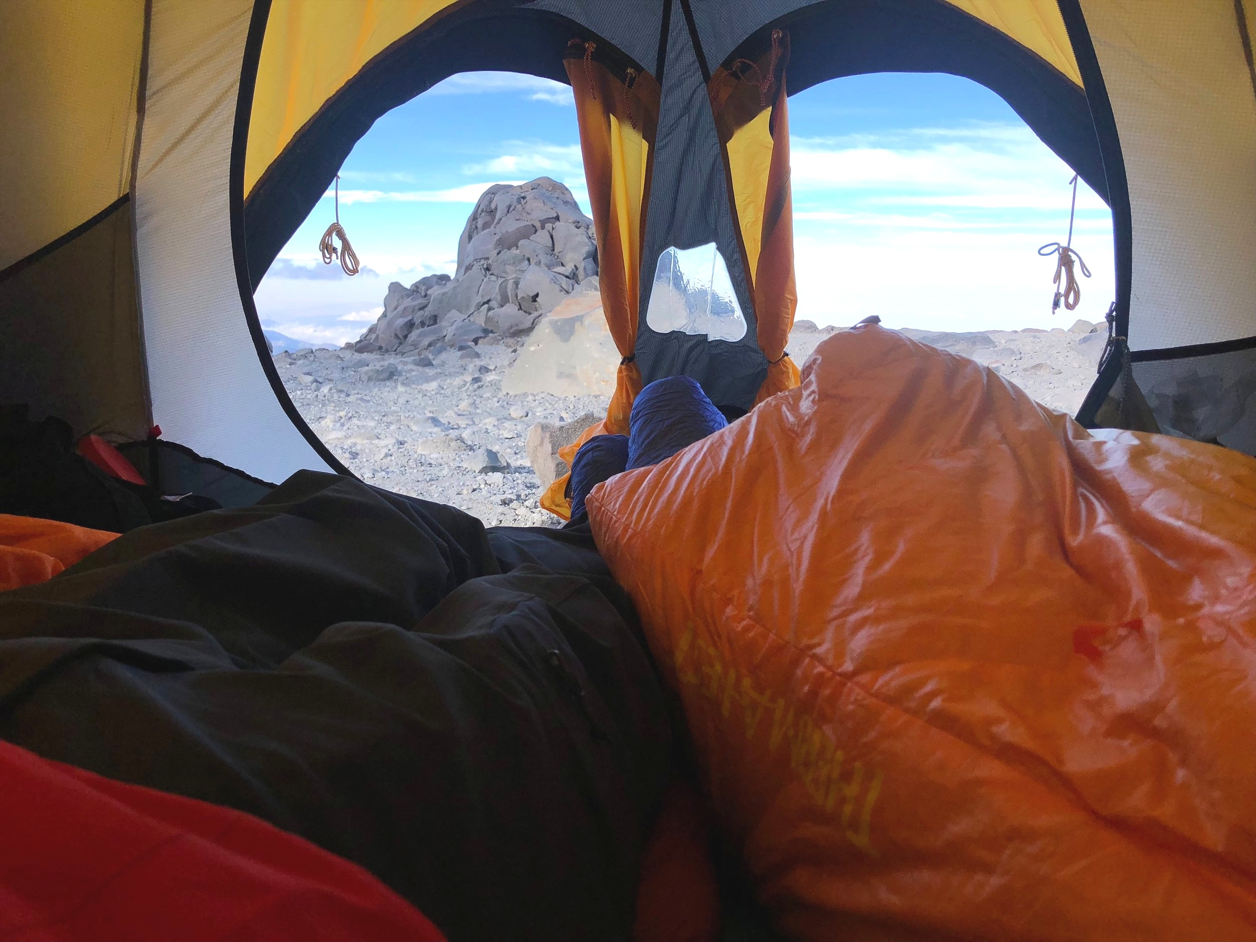 orizaba+high+camp+ctss+tent+thermarest