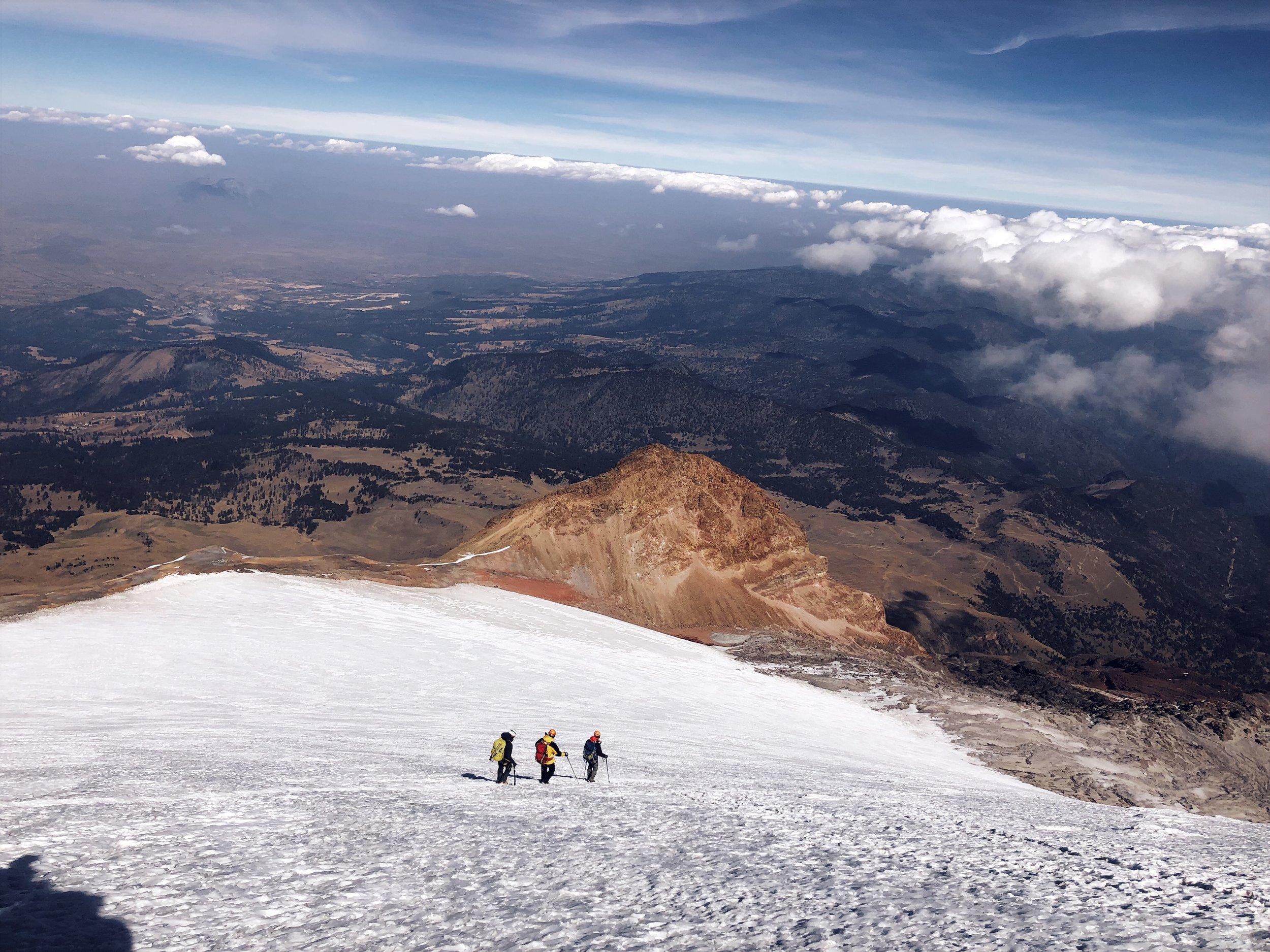 orizaba summit descent ctss