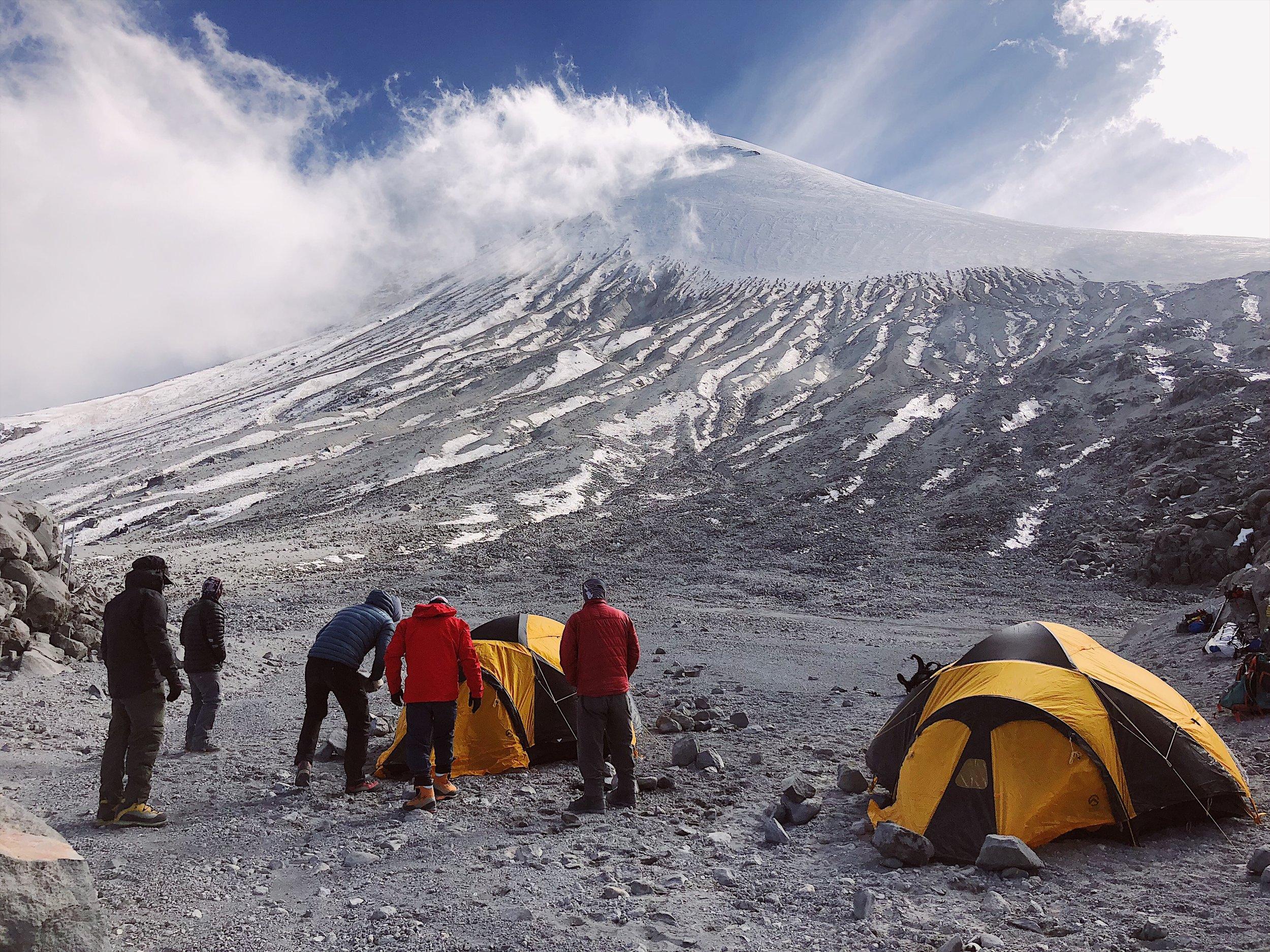 High camp on Pico de Orizaba