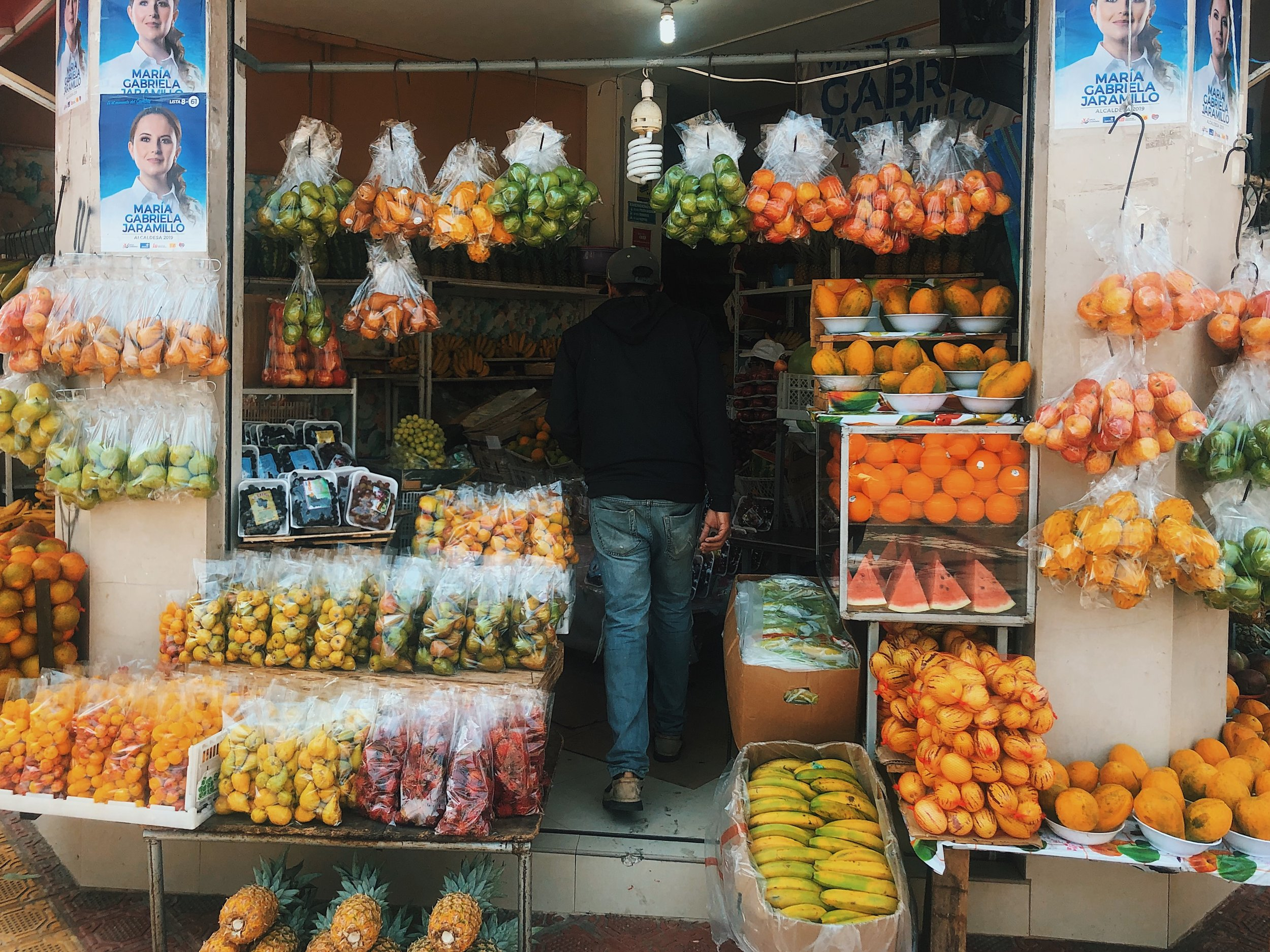 Market selling local fruits