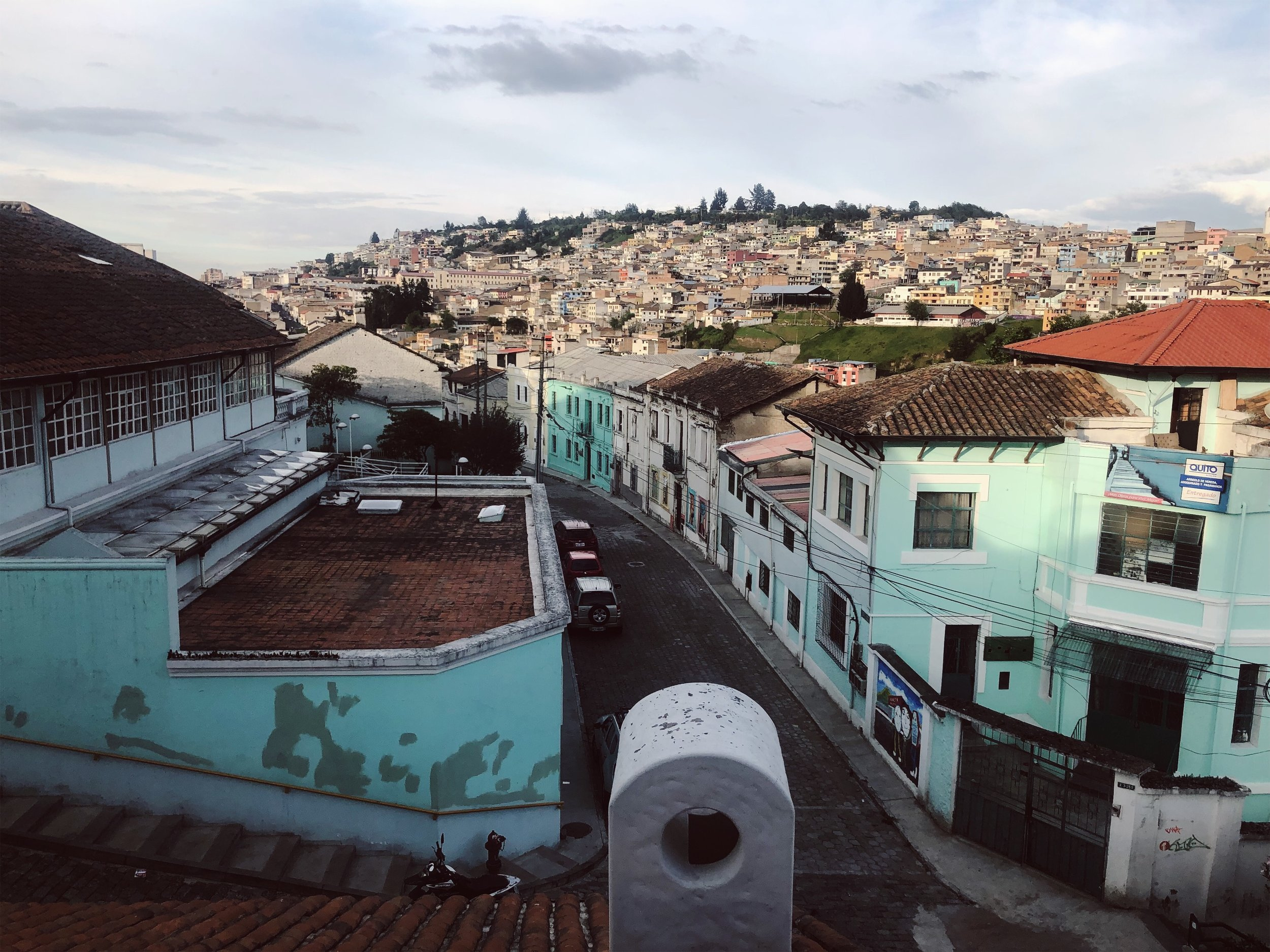Views of Quito as we enter the city
