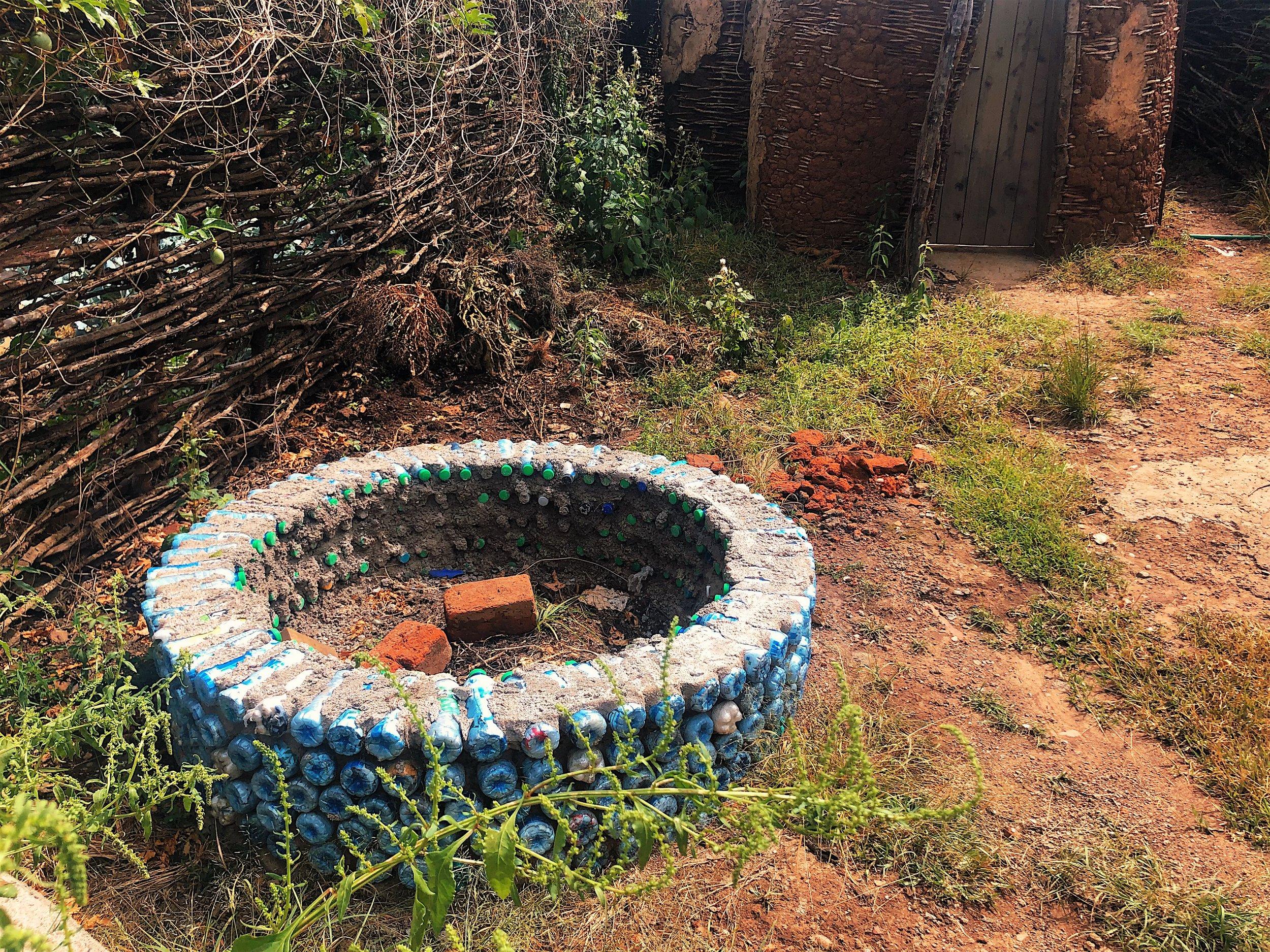 ecobrick raised garden angama shamba