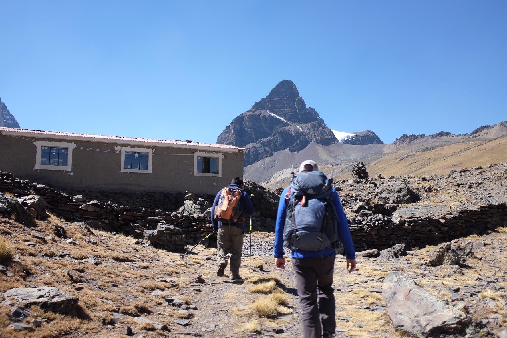 Arriving at Condoriri Base Camp