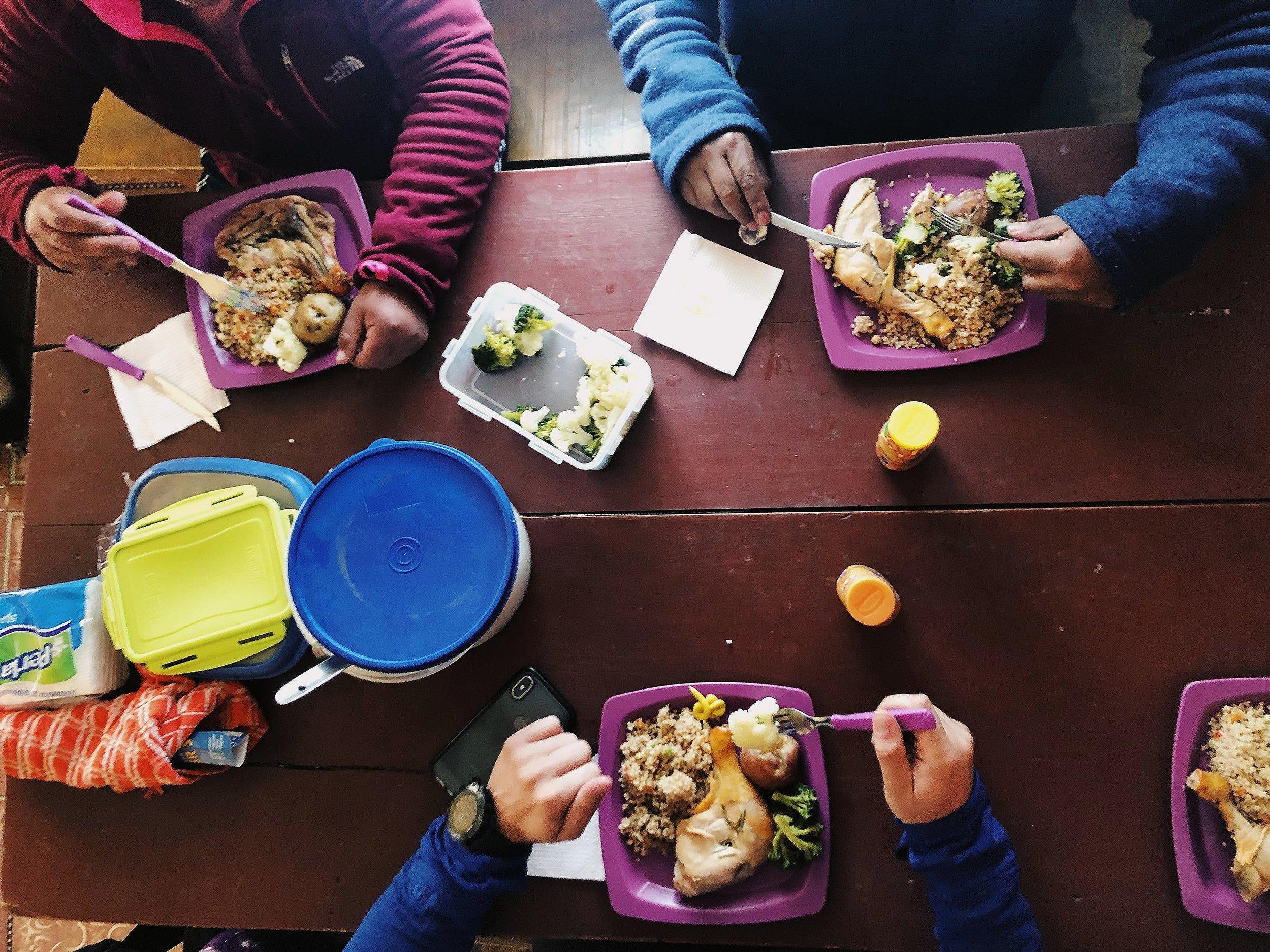 Team lunch at Condoriri
