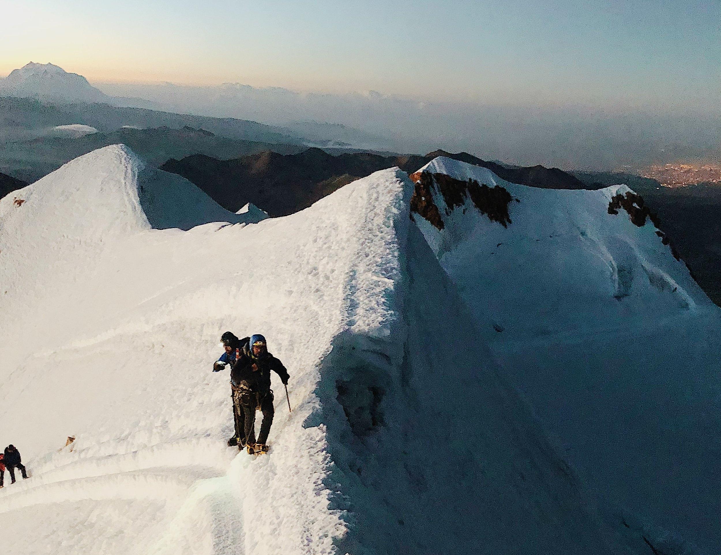 Nearing Huayna Potosi summit
