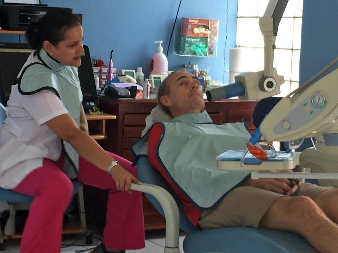 Dr. Ondina taking digital X-rays