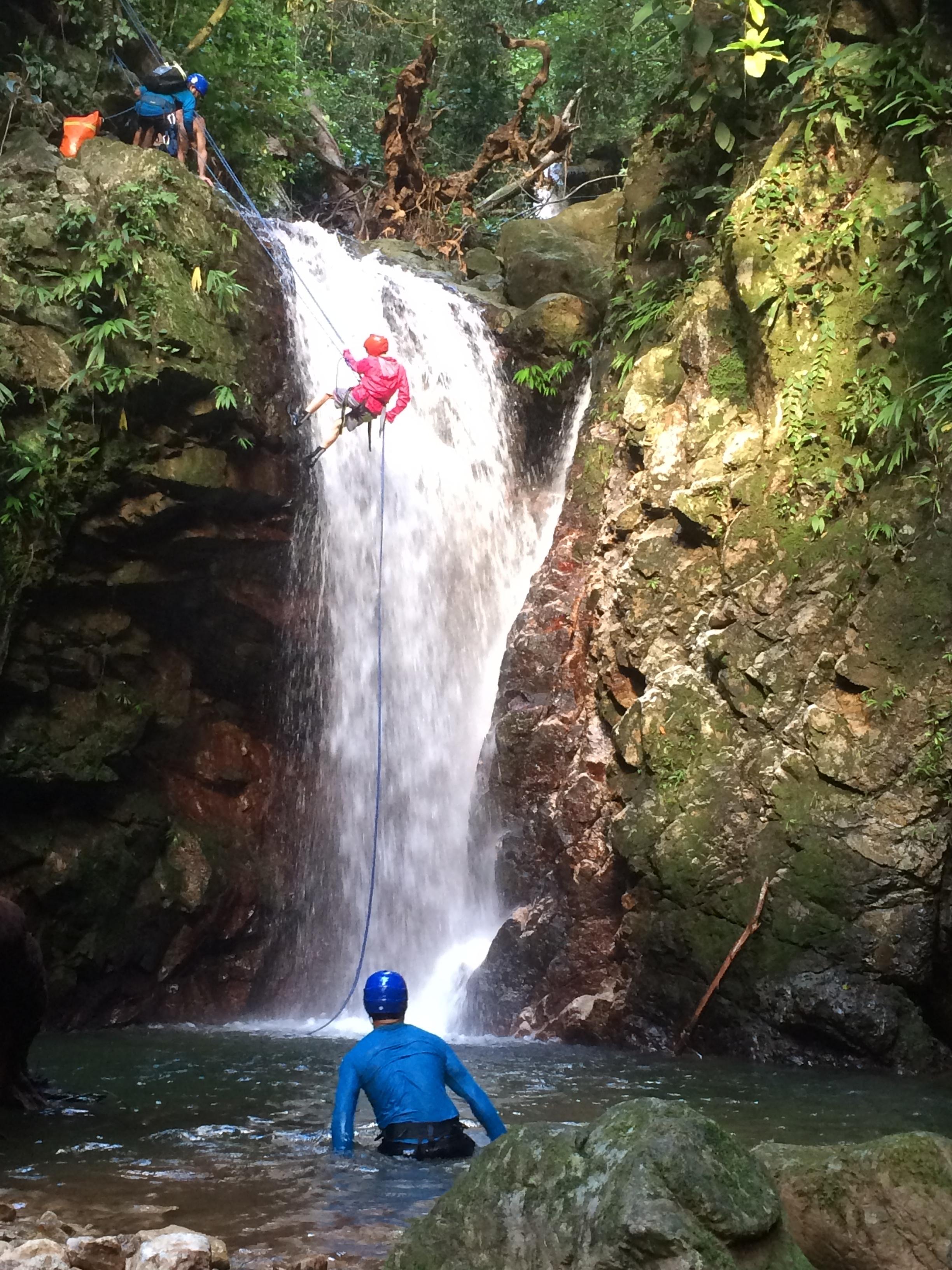 Felix gets steep and deep at 'Hidden Falls'