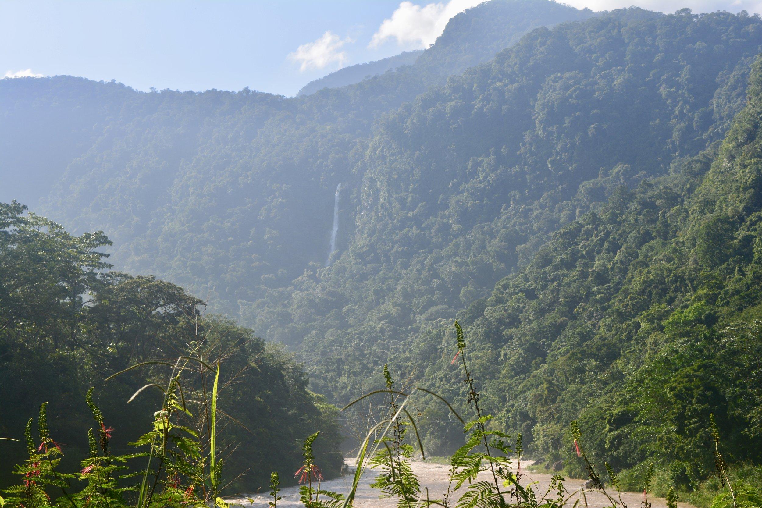 El Bejuco waterfall in Pico Bonito National Park
