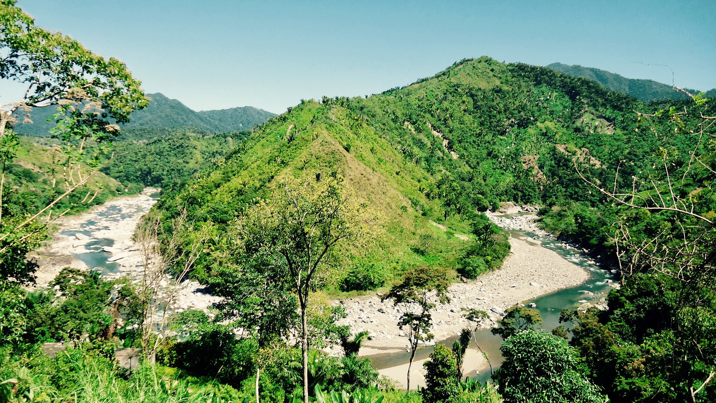 The Valley of the Rio Cangrejal where Las Cascadas Lodge is located