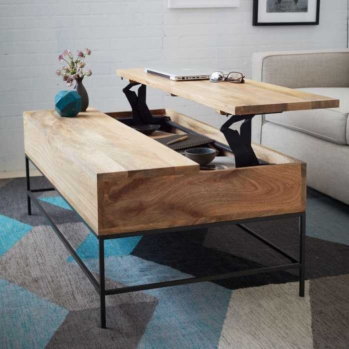 Industrial Coffee Table by West Elm