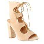 Tie up block heels
