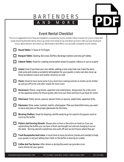 Event Rental Checklist (BAM)