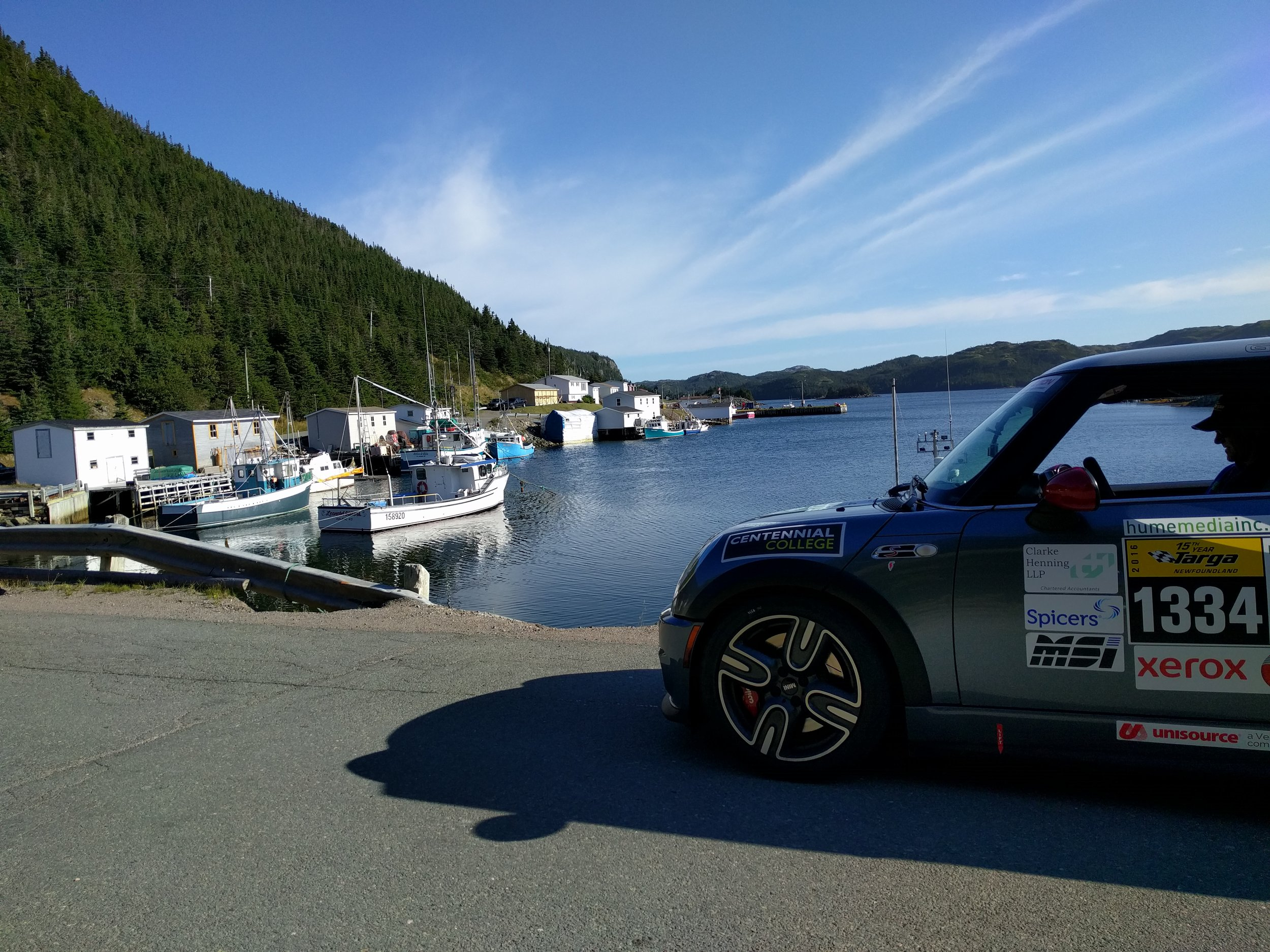 Our team car 1334 overlooking the bay