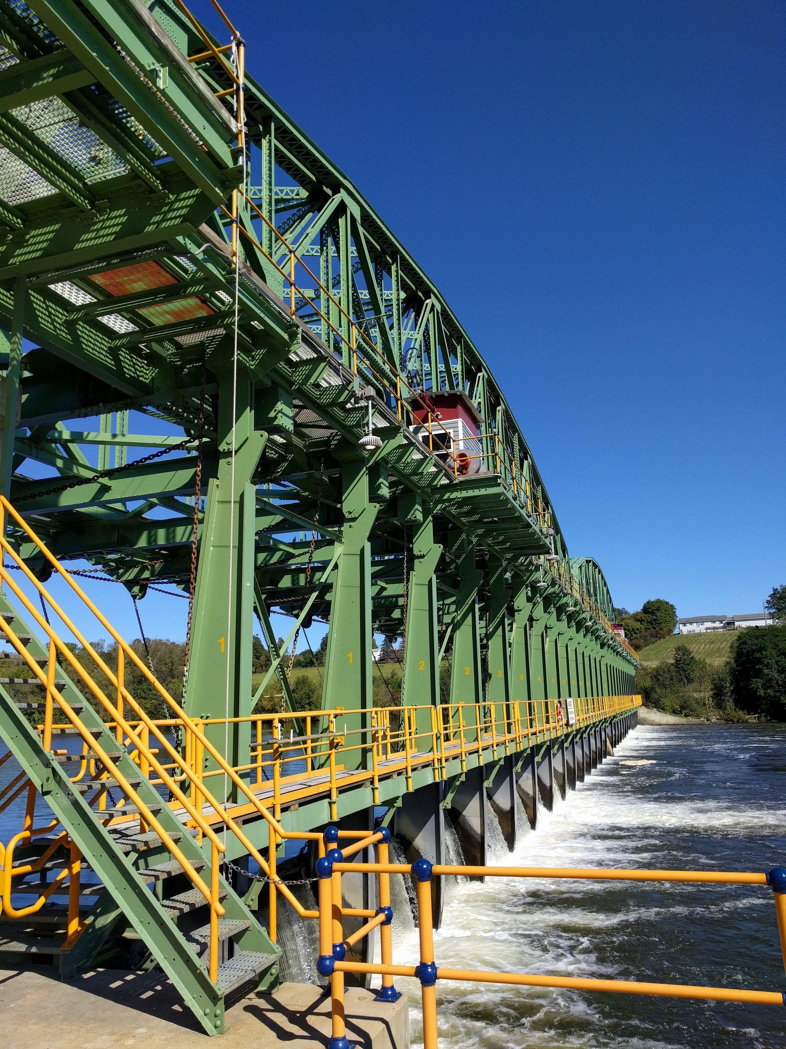 Bridge beside our next lock