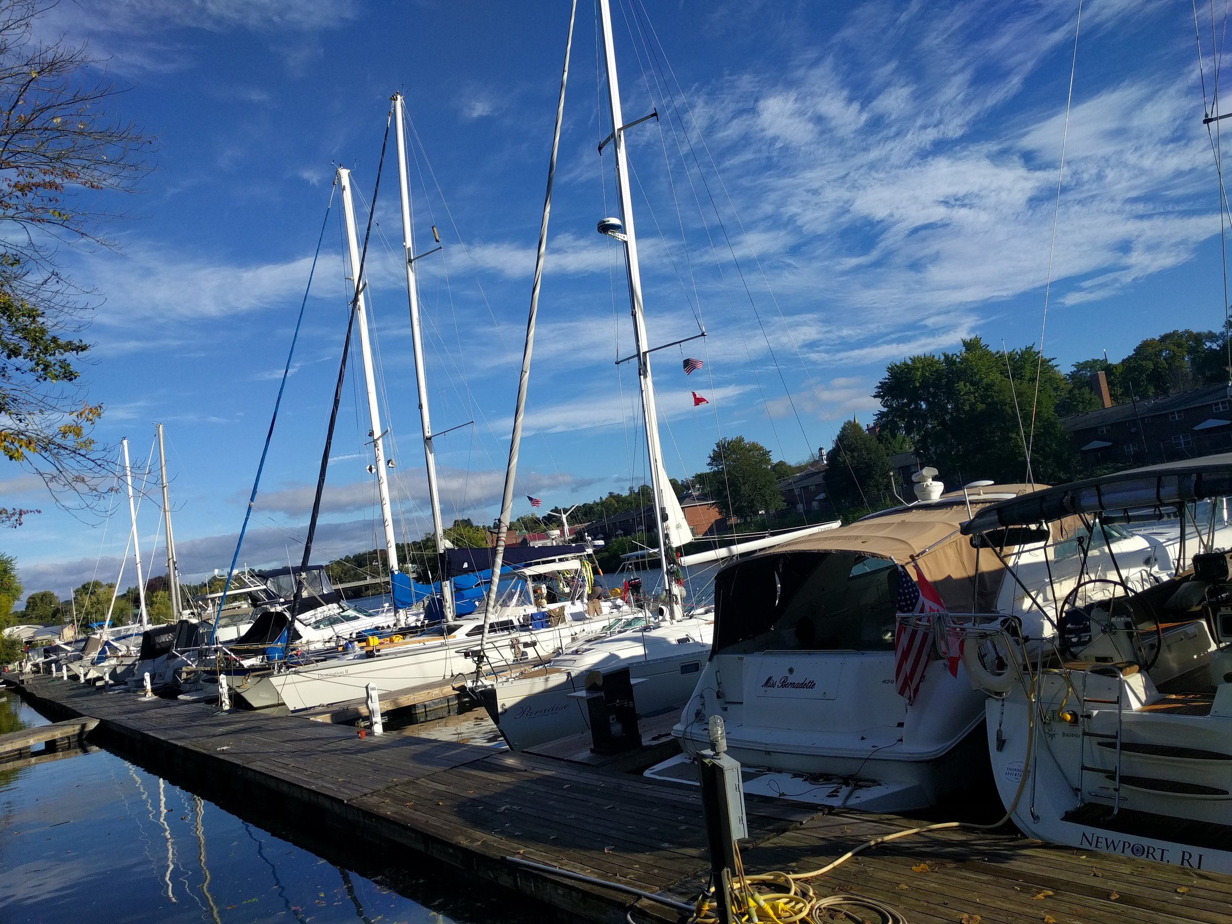 Saying goodbye to Hop-O-Nose Marina.