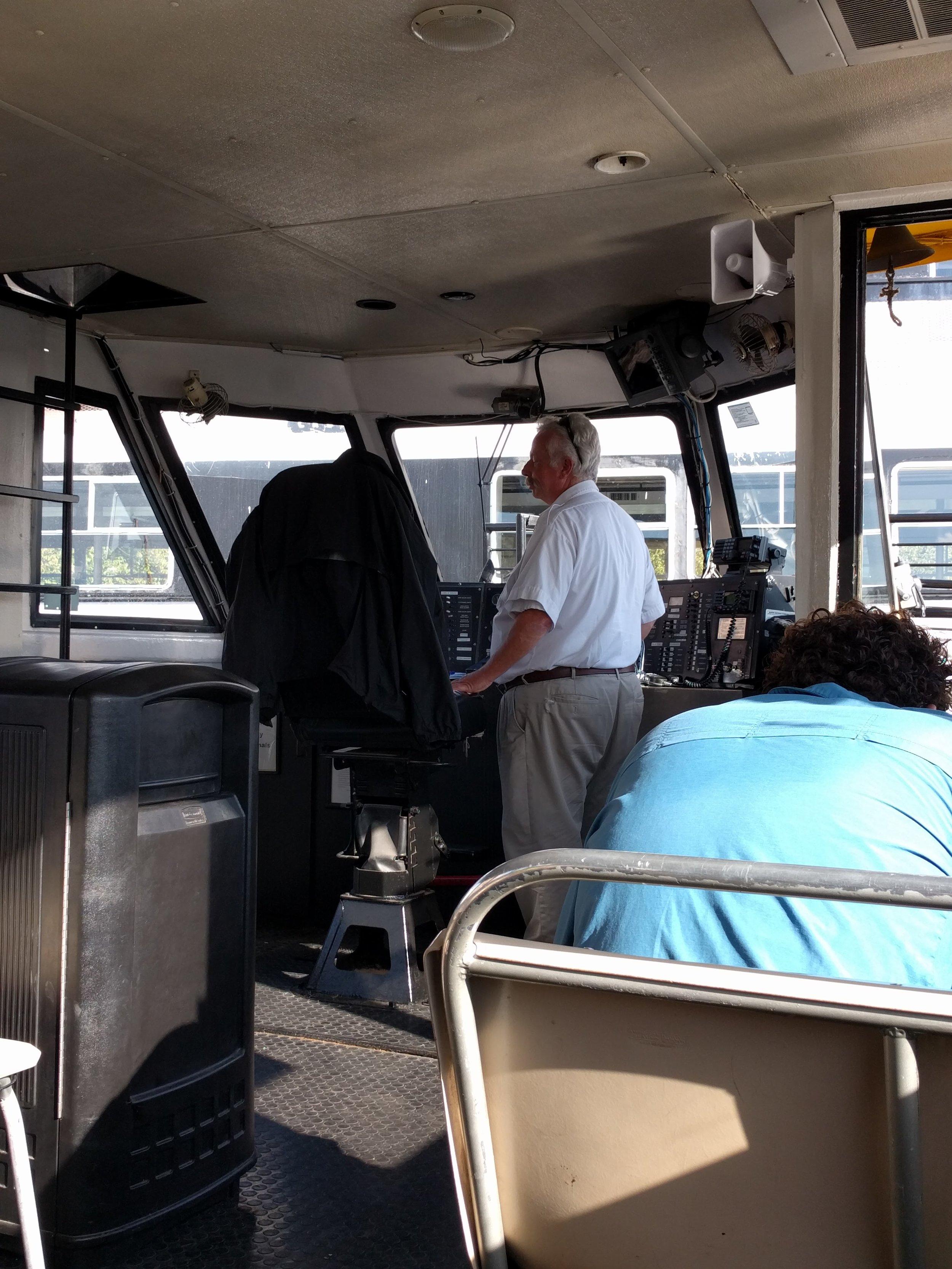 Our 2 min ferry captain.