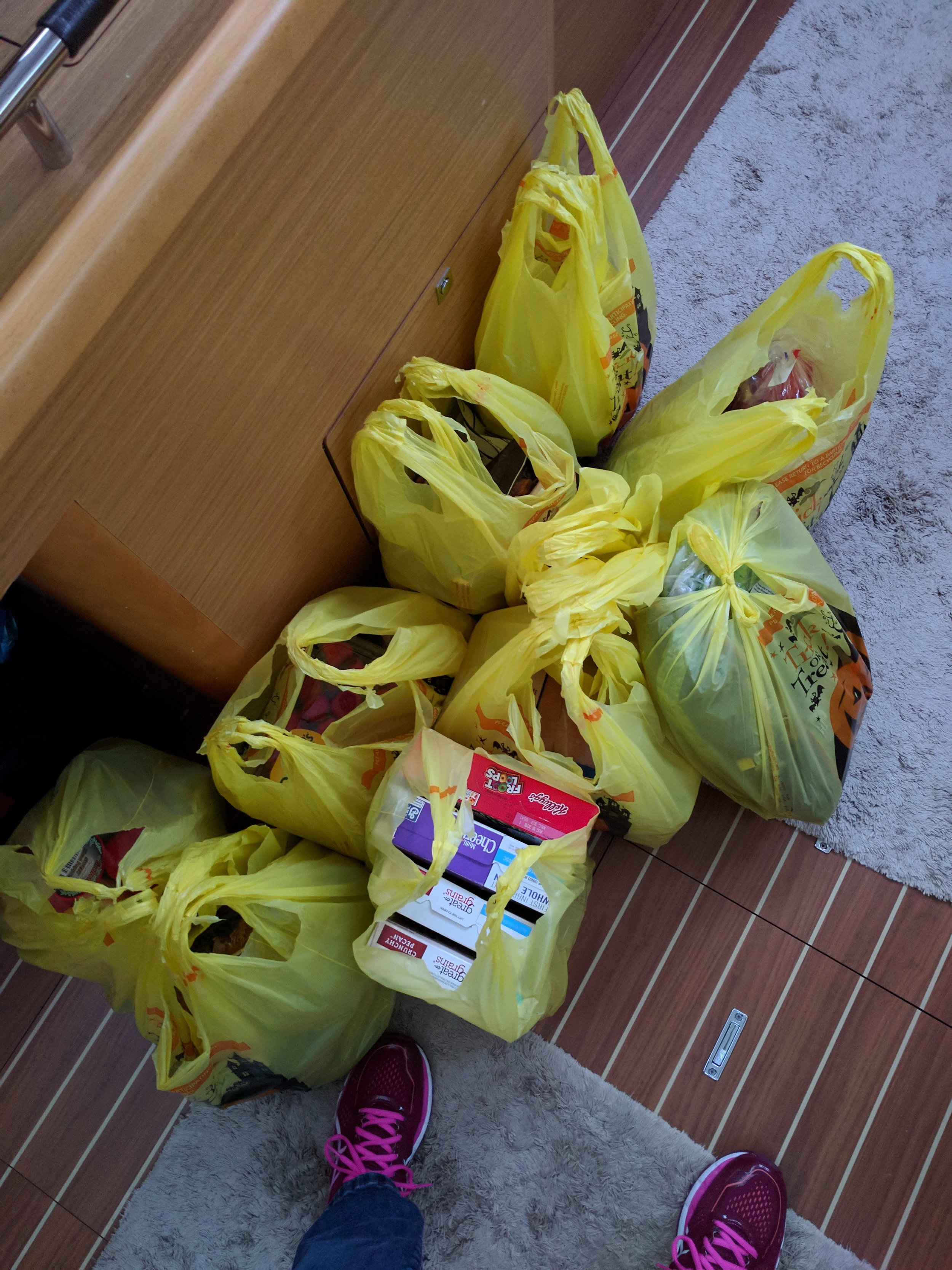 Our groceries.