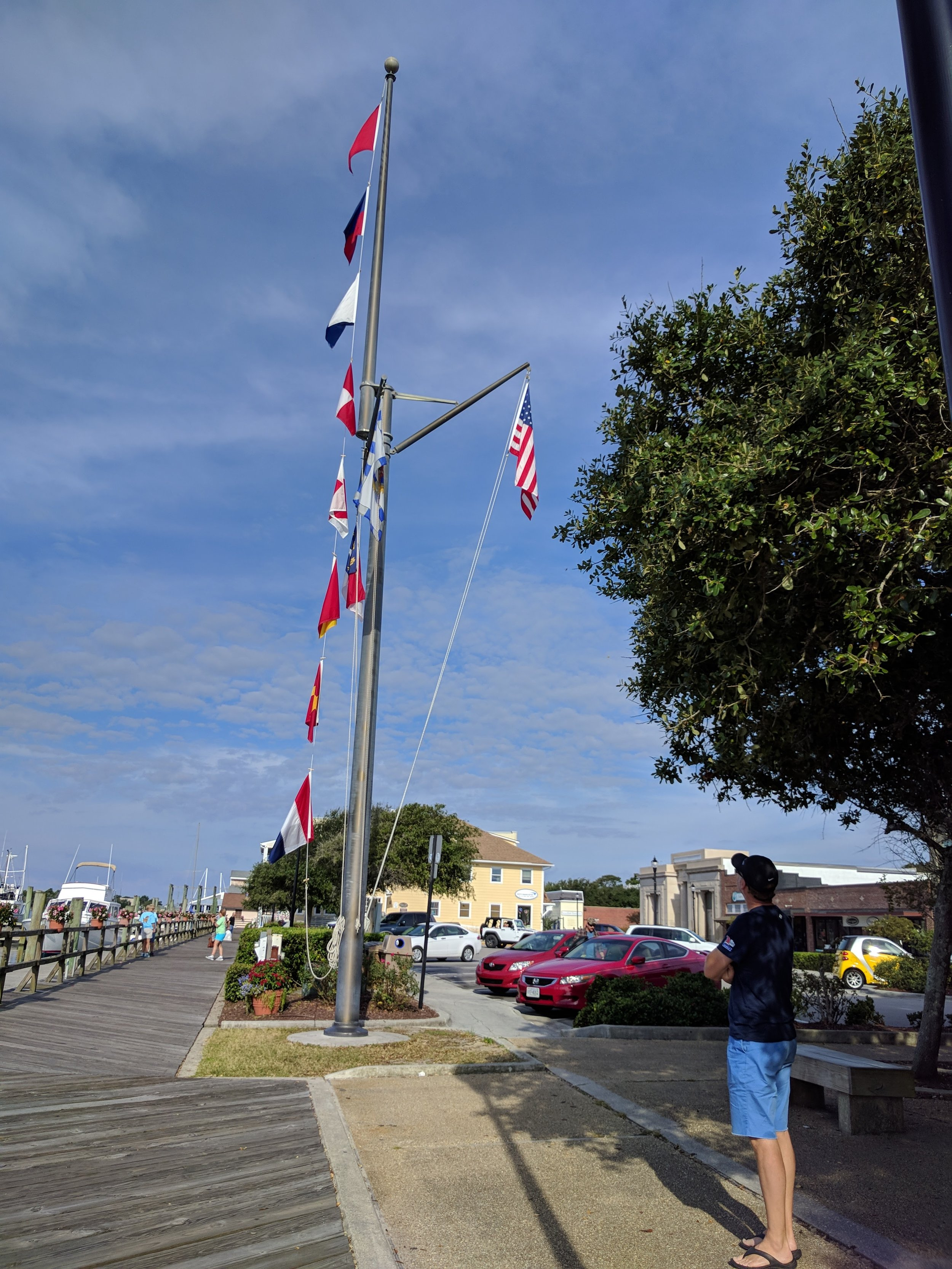The nautical flags spell 'Beaufort'.