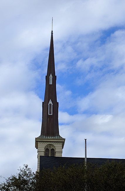 One of the tallest Church steeples in Charleston.