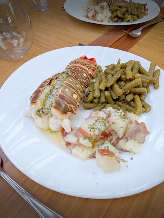 Yum! FRESH lobster dinner.