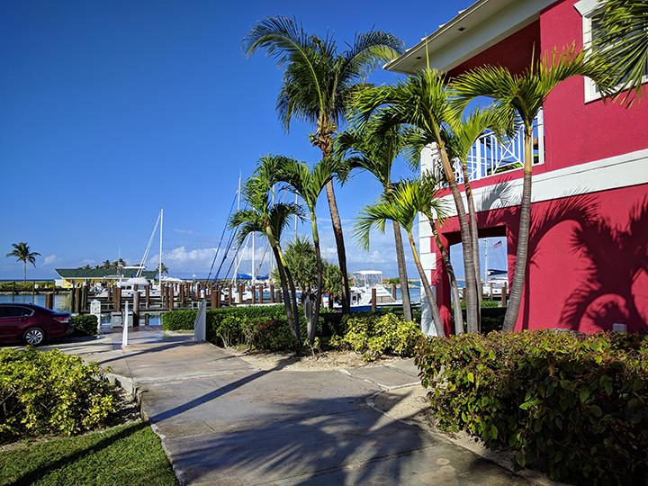The marina and resort perfectly harmonious.