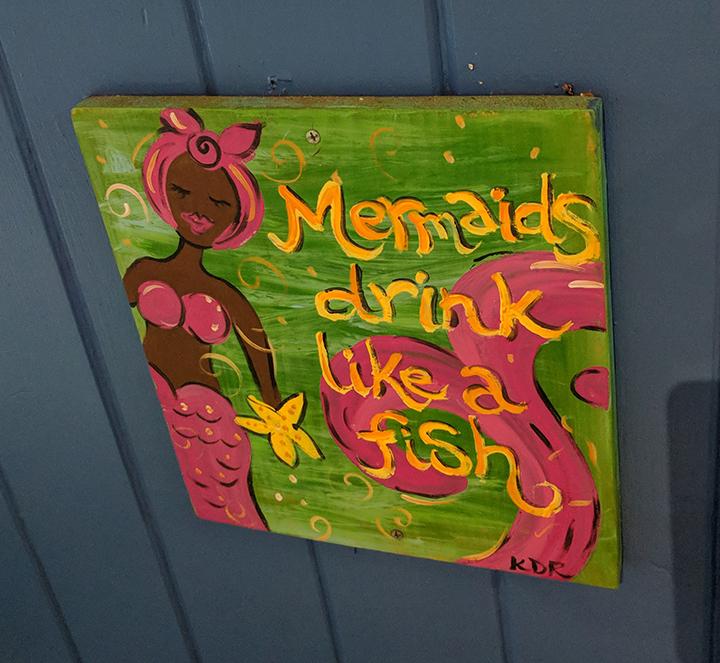 Mermaids drink like a fish.