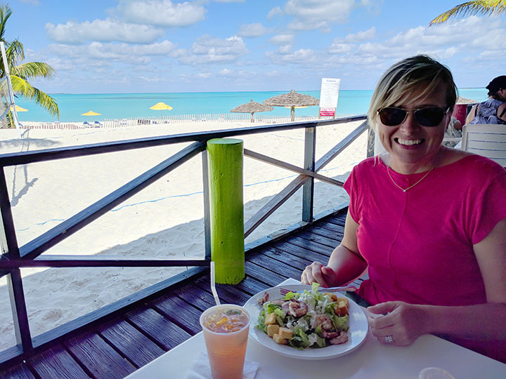 Lunch by the beach.