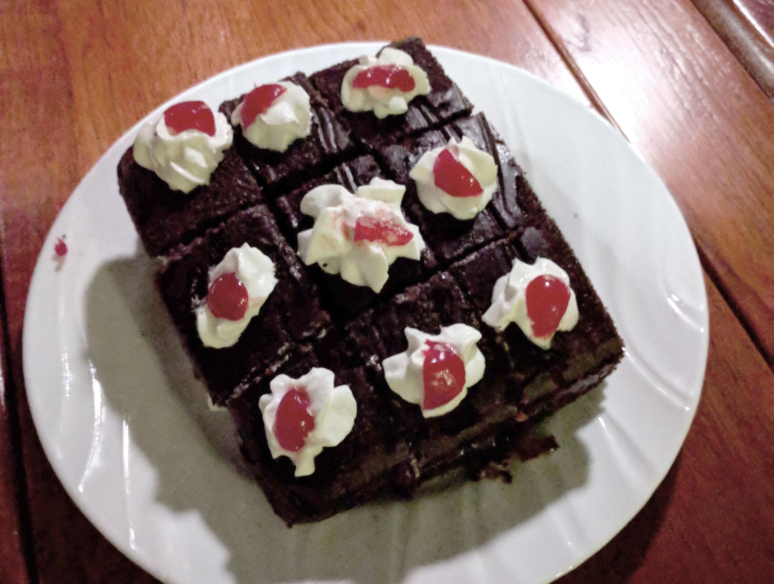 A twist on Black Forest cake.