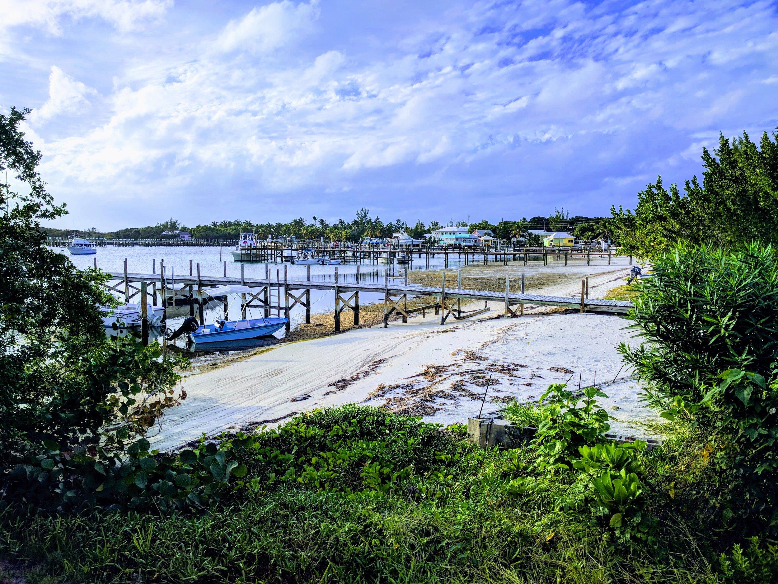Beautiful view of the Guana Cay marina.