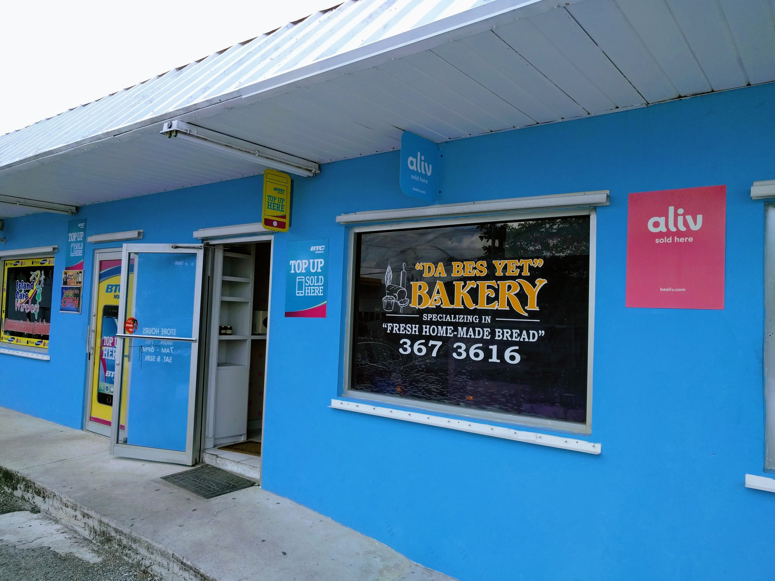 Da Bes Yet Bakery is our stop for fresh baked bread and Bahamian goodies.