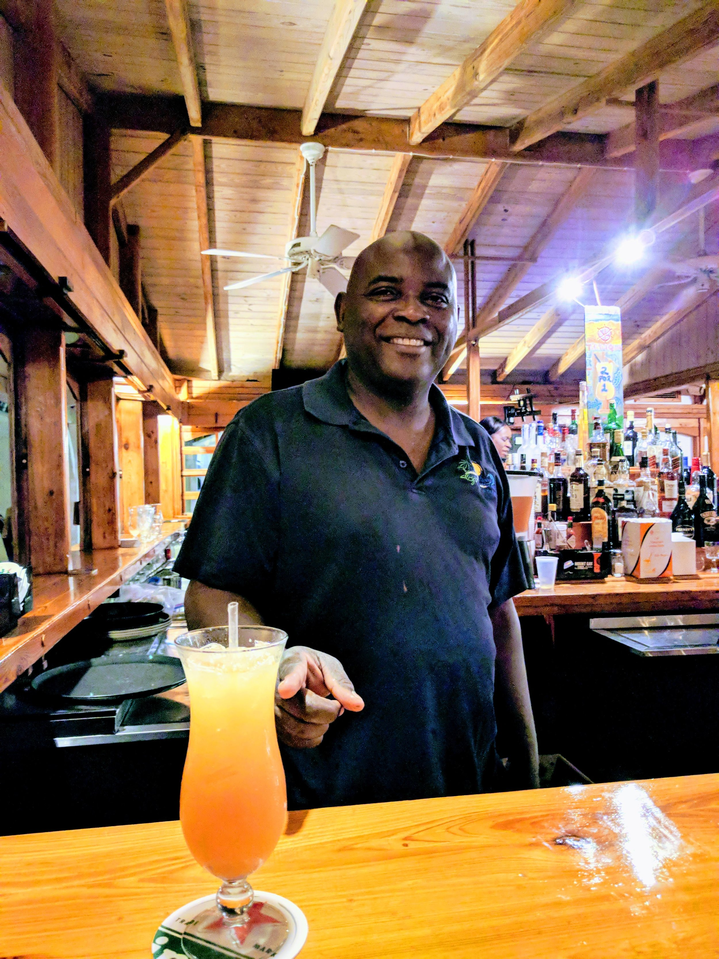 Our main man 'Juice'! The nicest bartender.