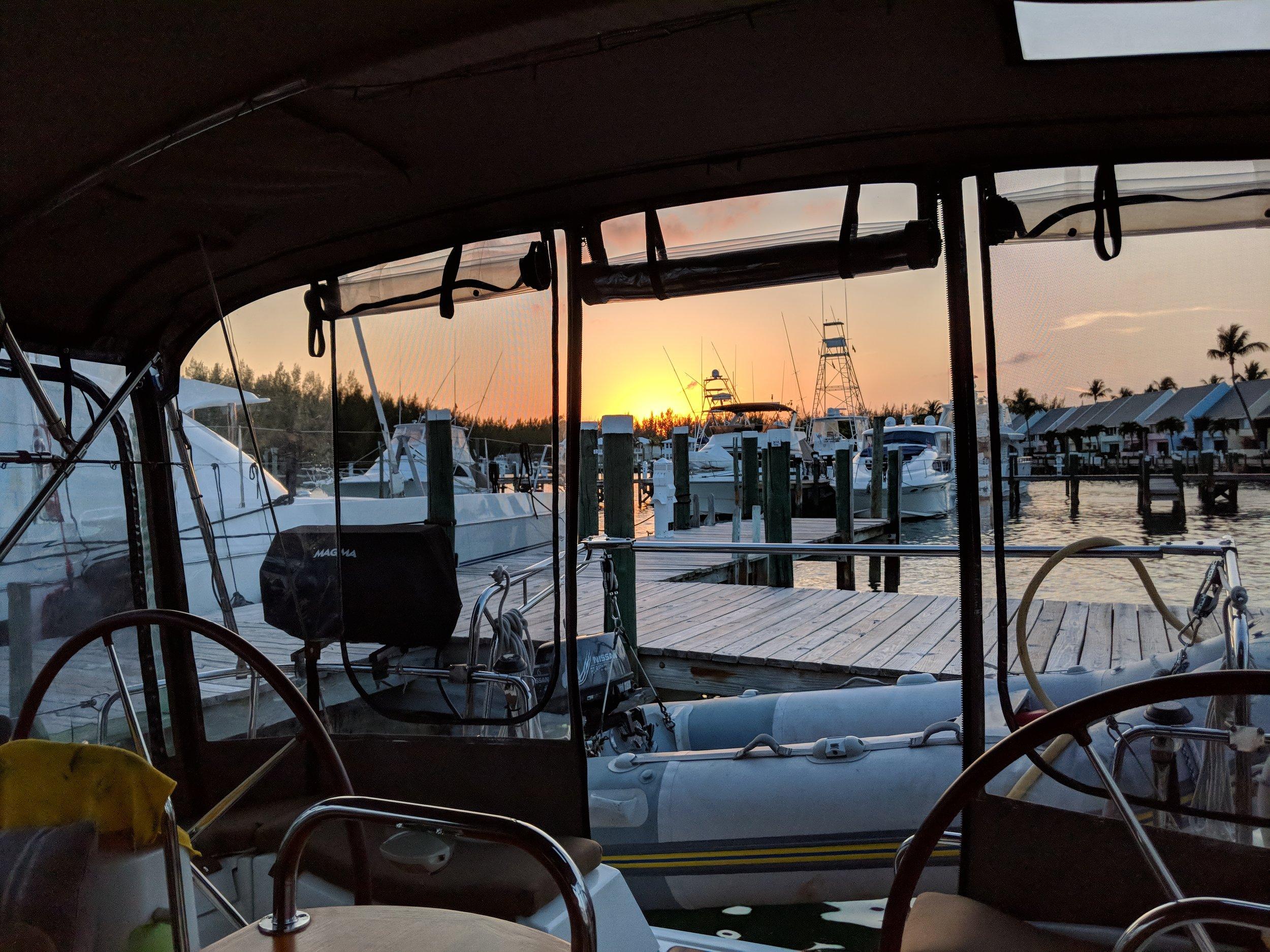 Sunset at the marina.