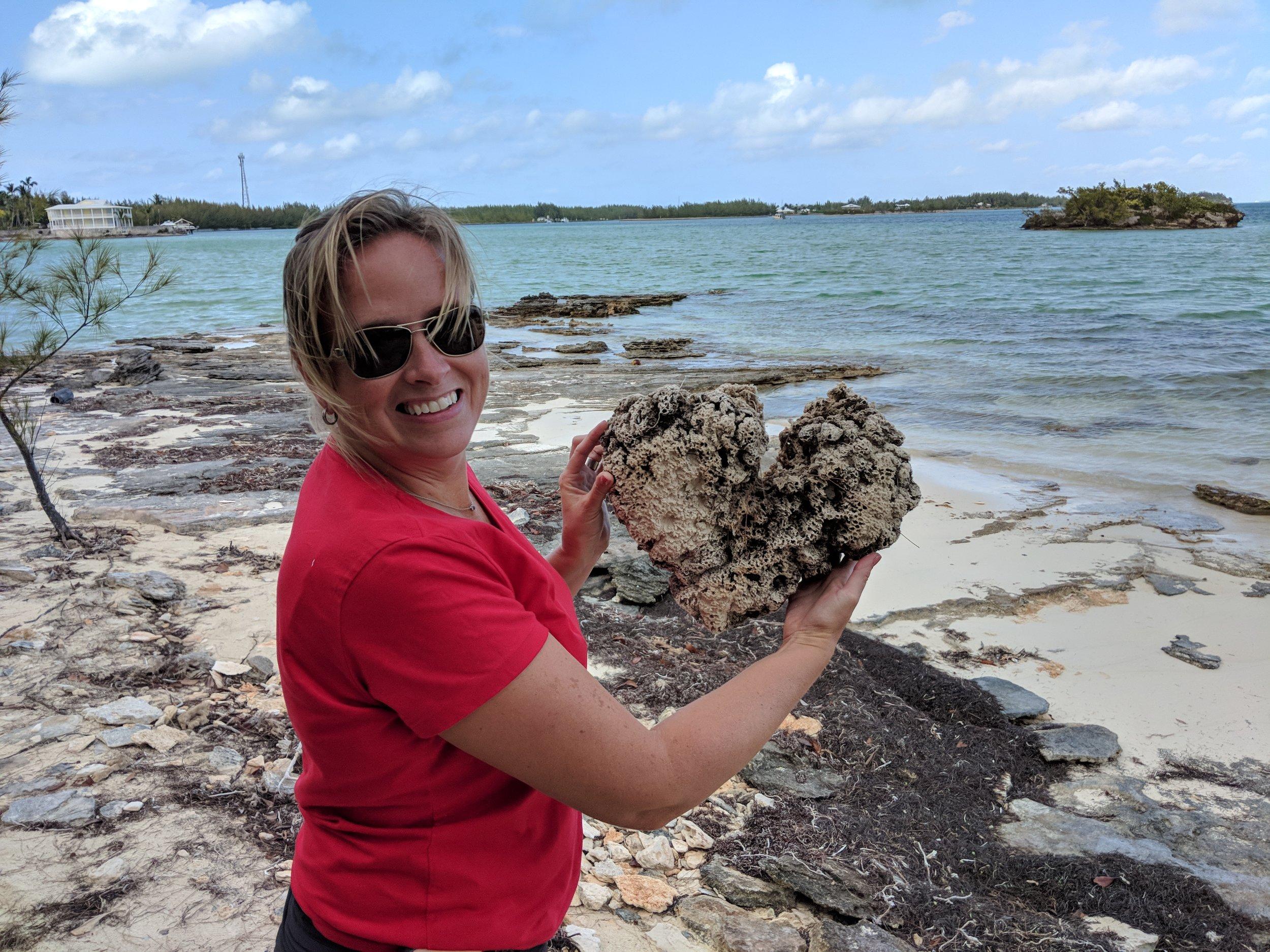 Heart shaped sea sponge! Cool!