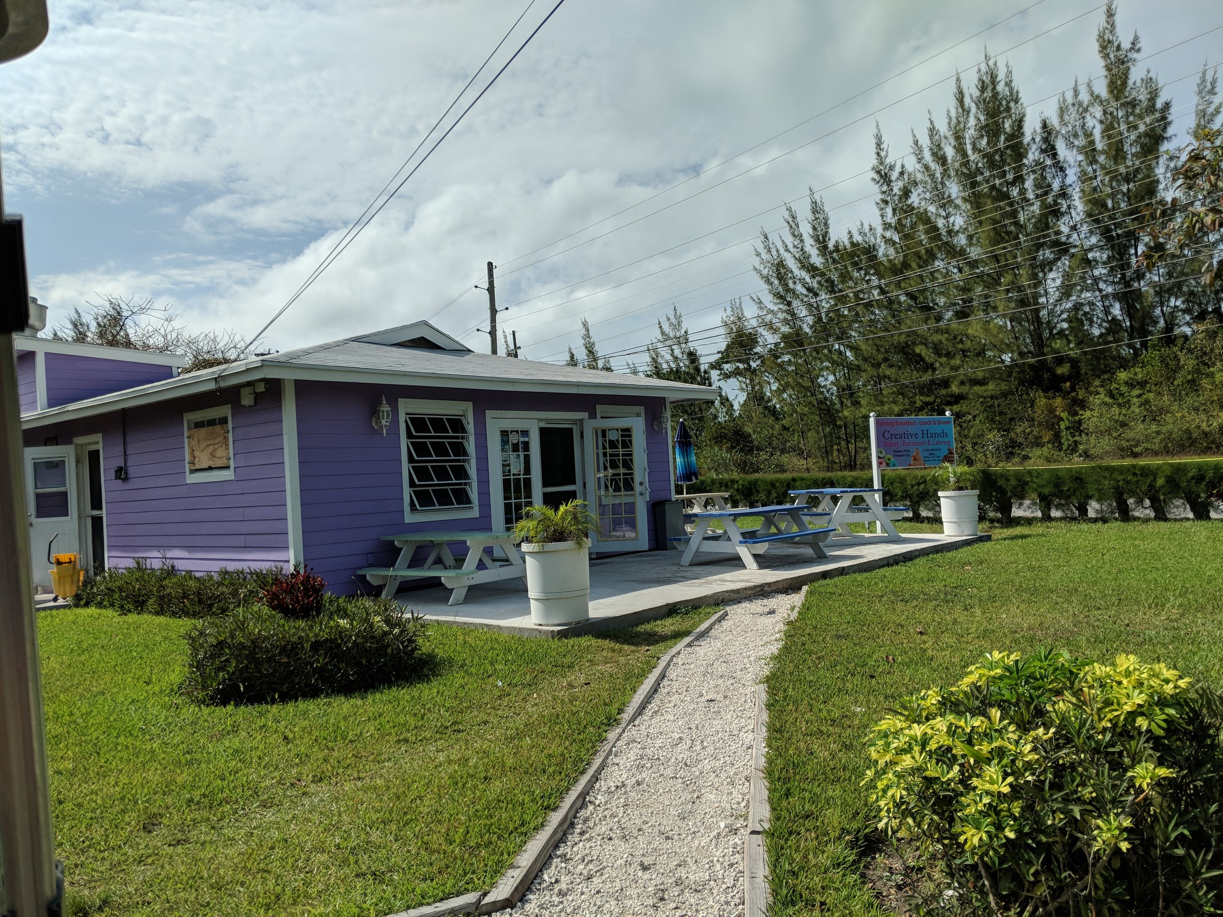 Creative Hands bakery just outside Treasure Cay.
