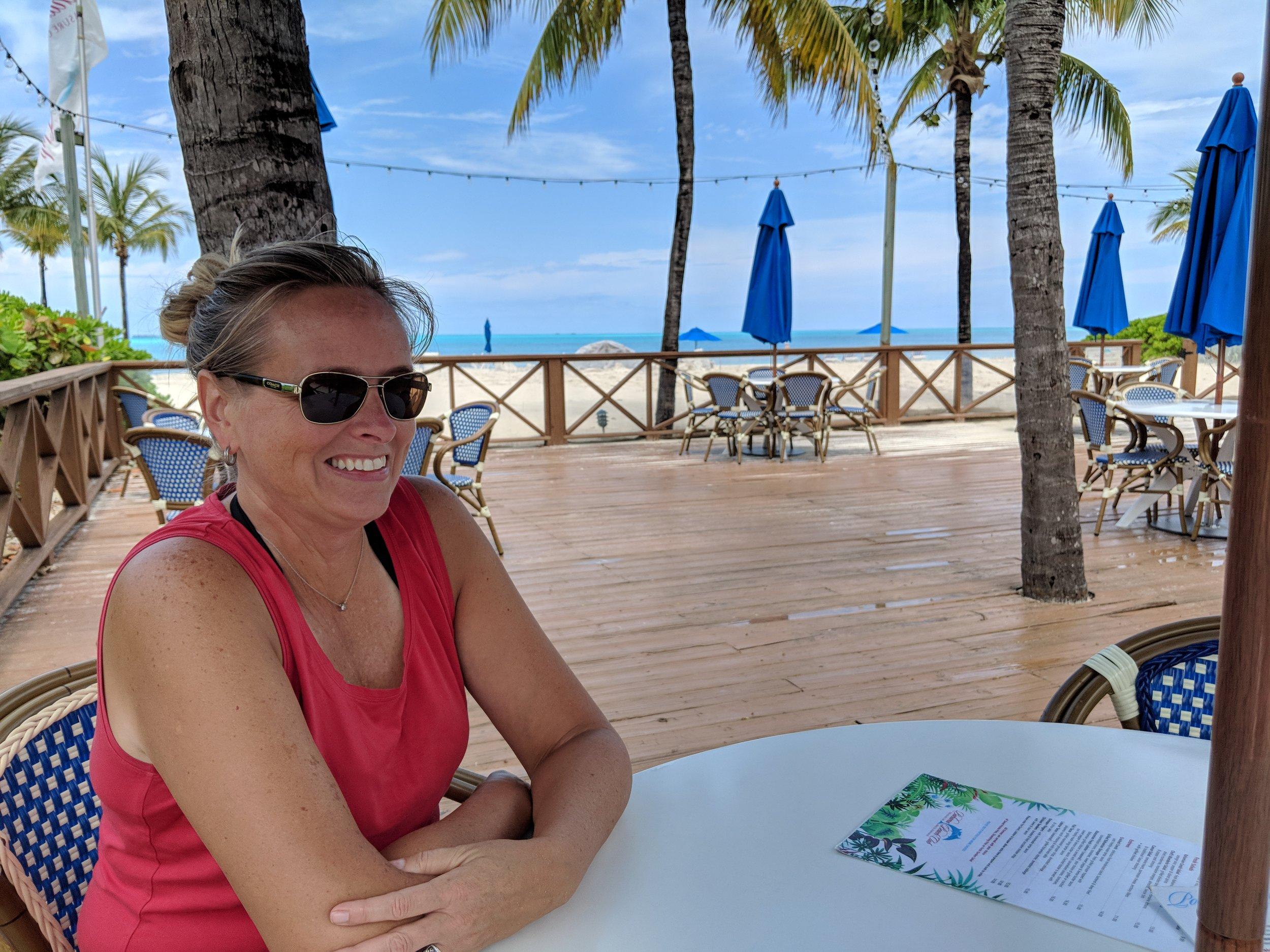 Lunch at Bahamas Beach Club & Resort.