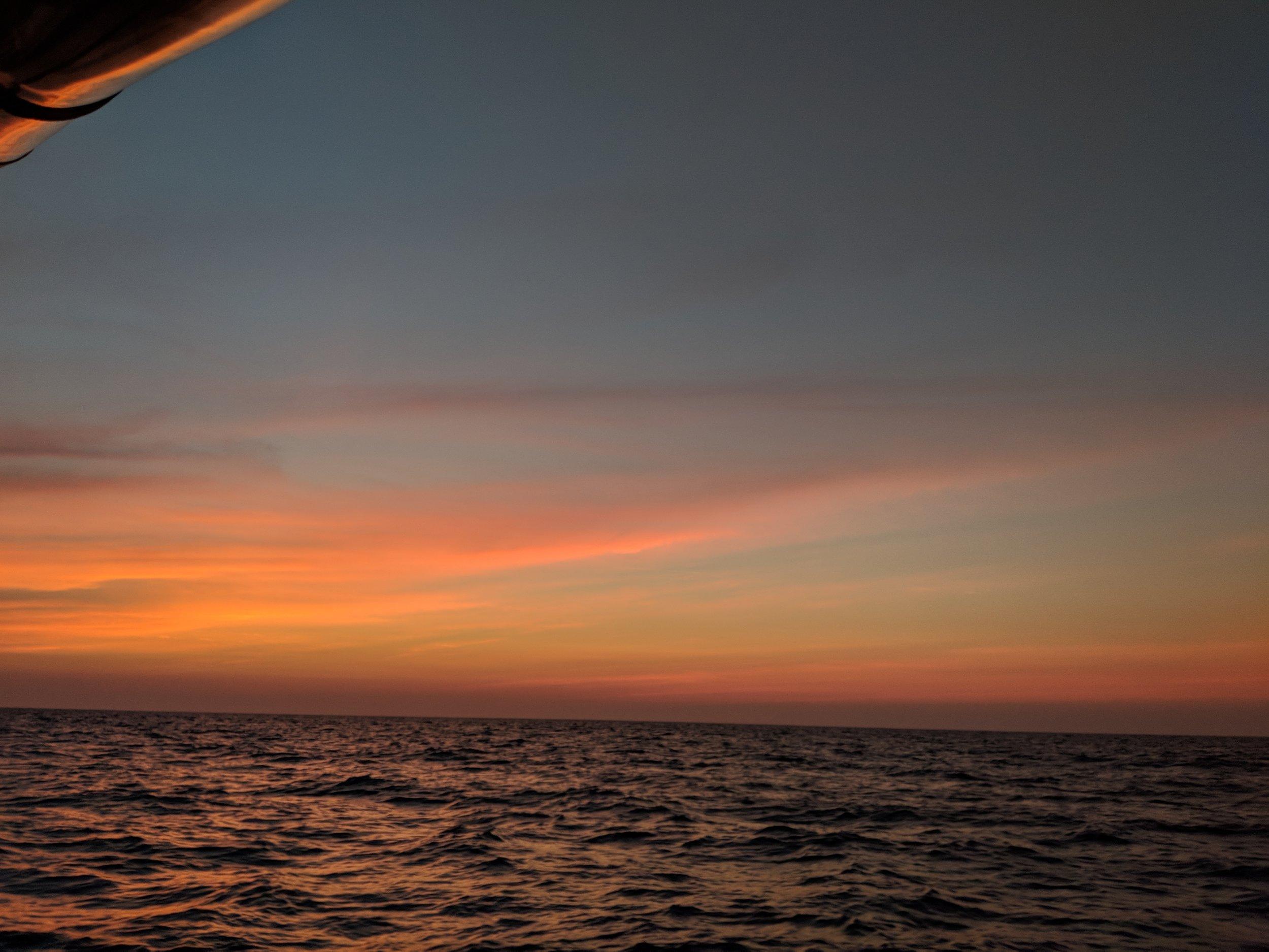 Spectacular sunset.