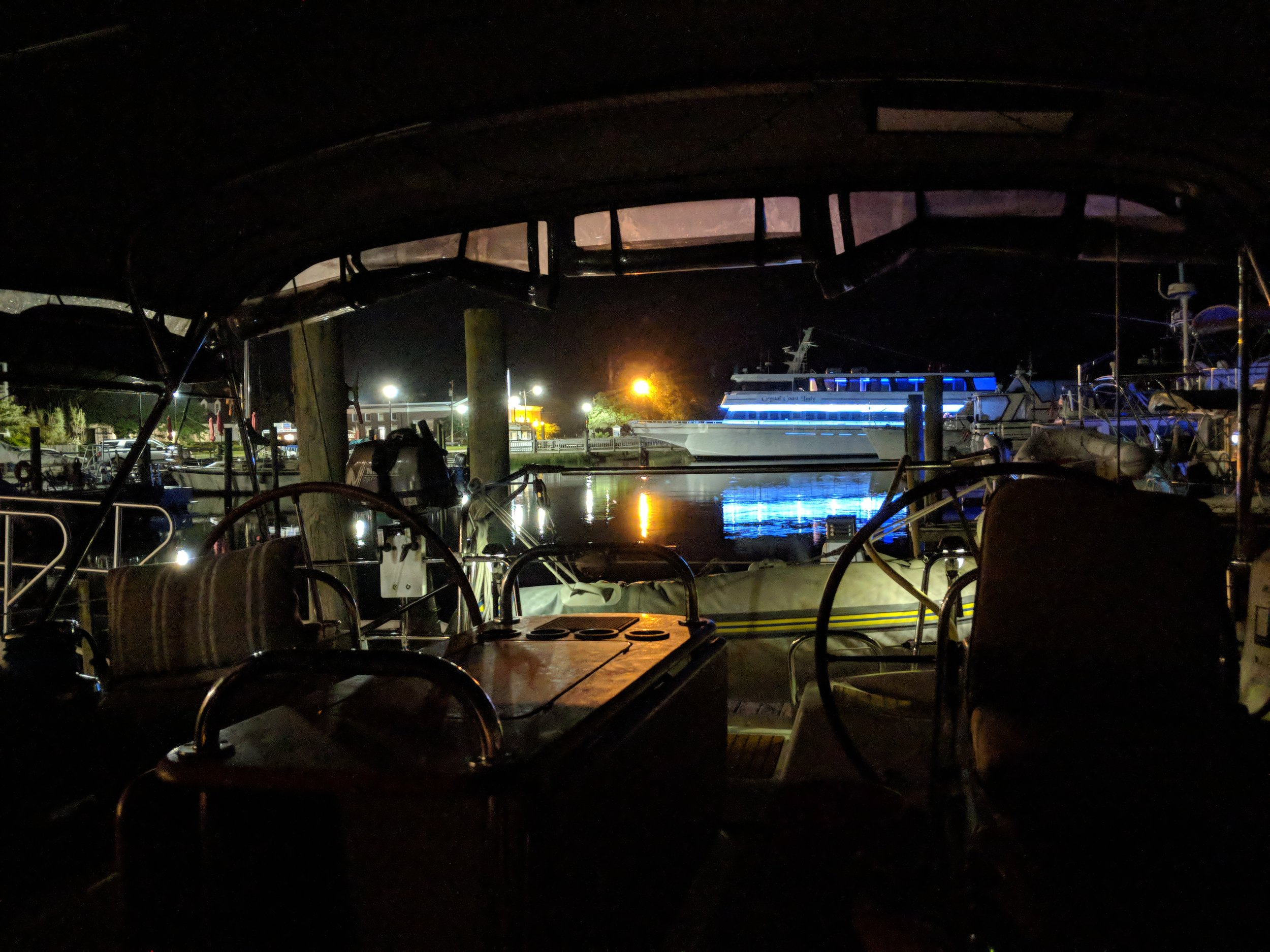 Even at night the marina is beautiful.