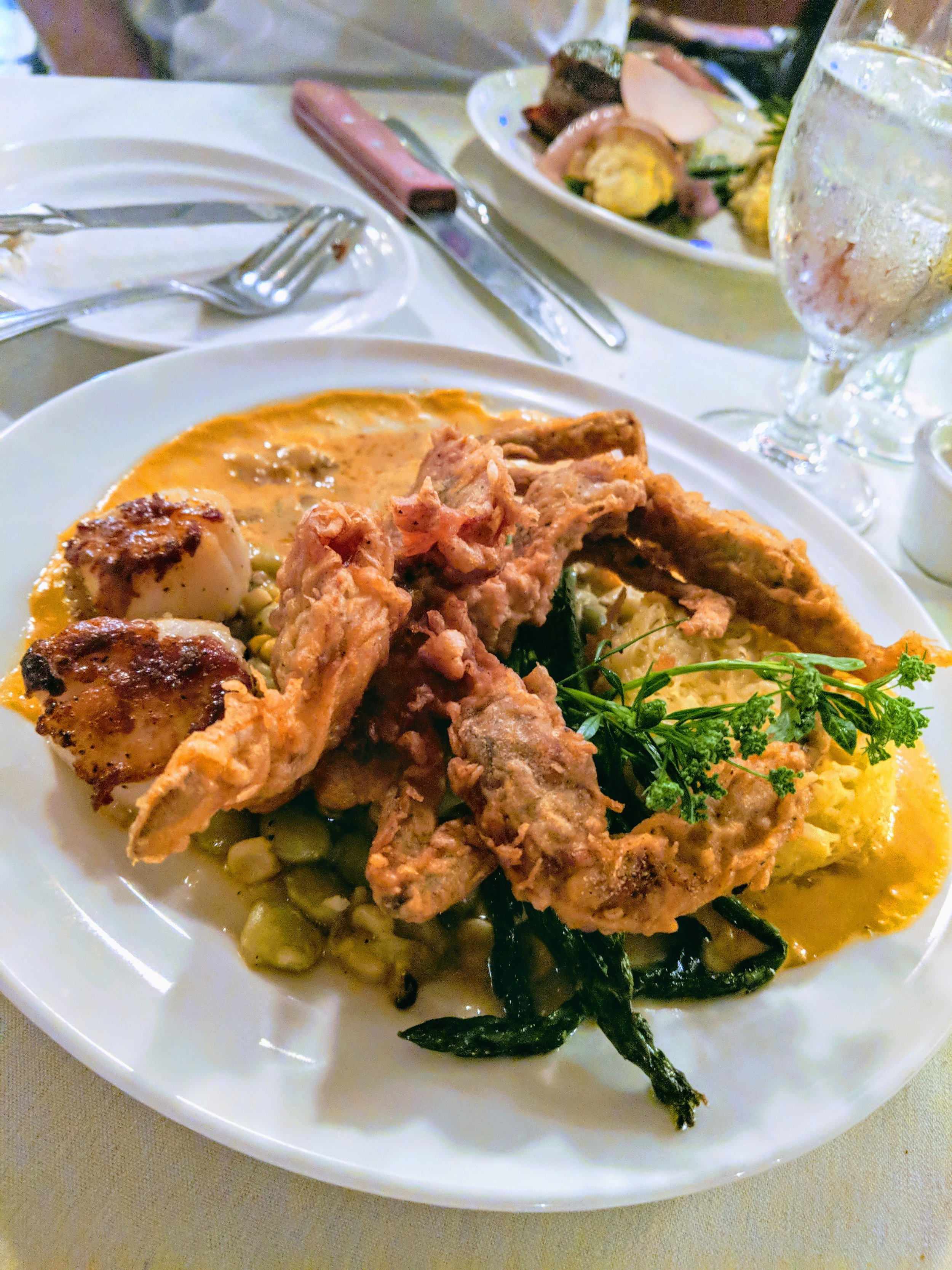 My soft shell crab....whole!