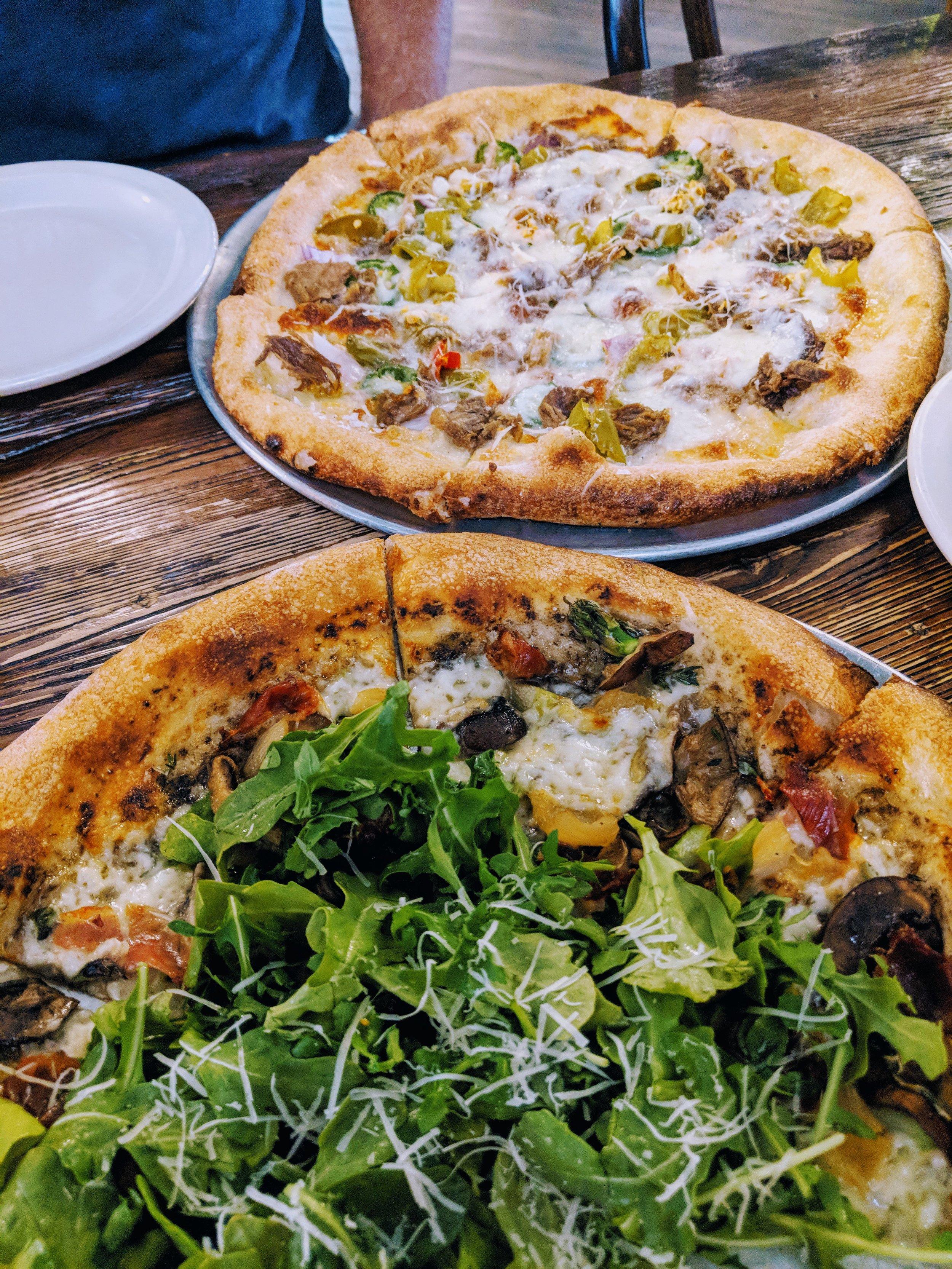 Fabulous pizzas!