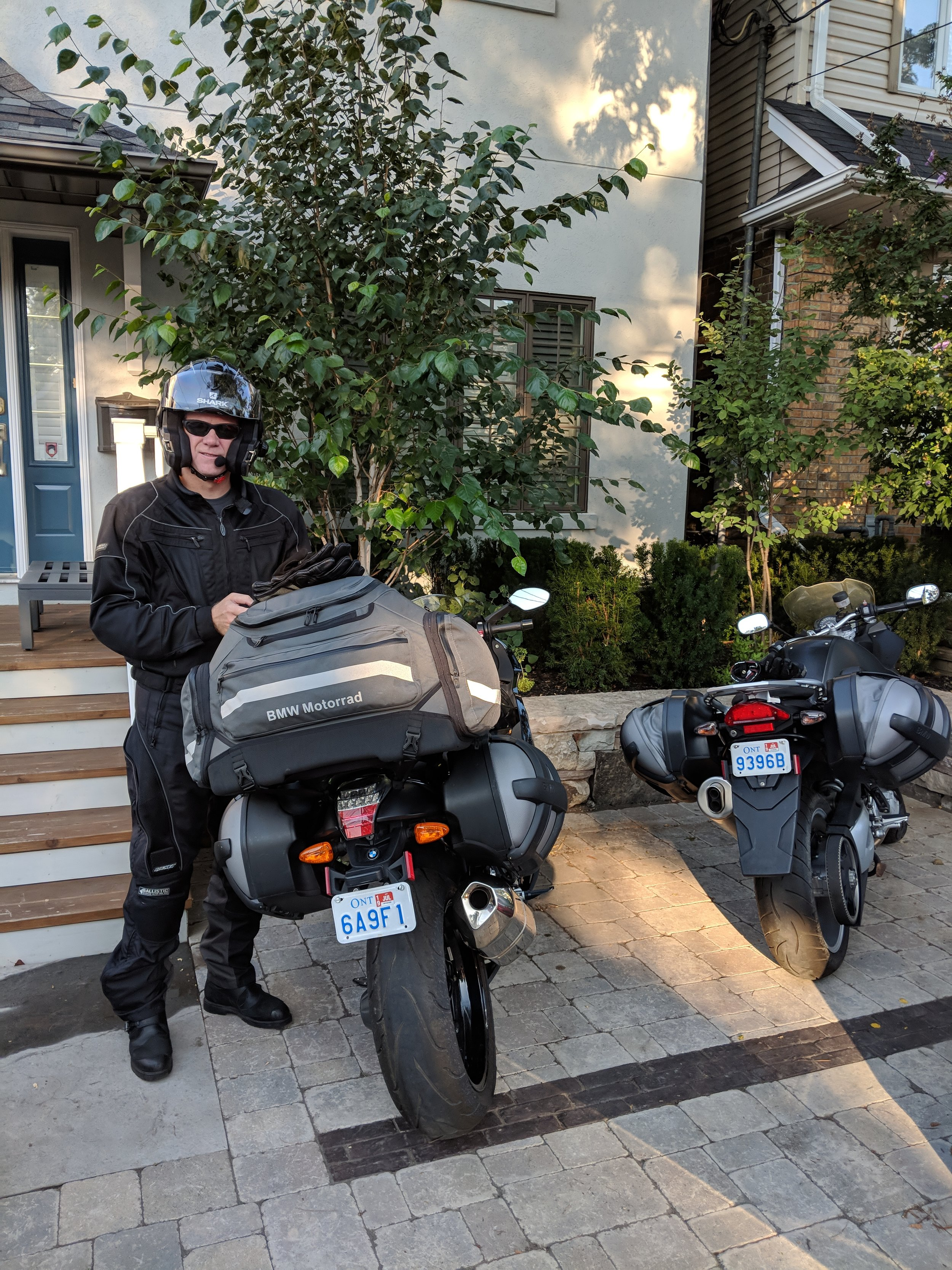 Andrew has most of the luggage on his bike. What a man!